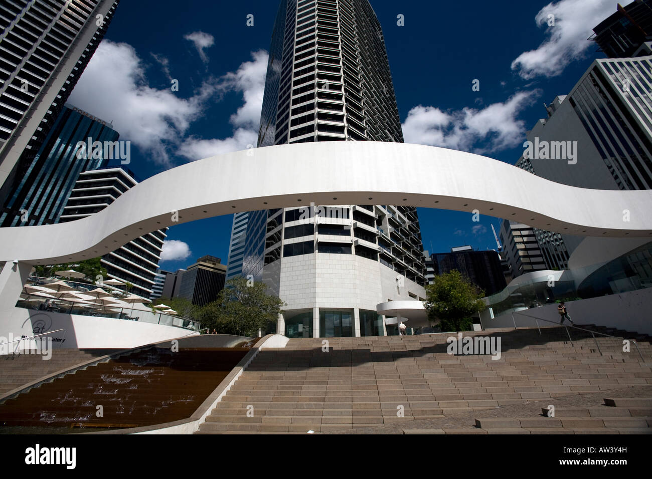 brisbane riverside centre and office buildings and modern architecture,queensland - Stock Image