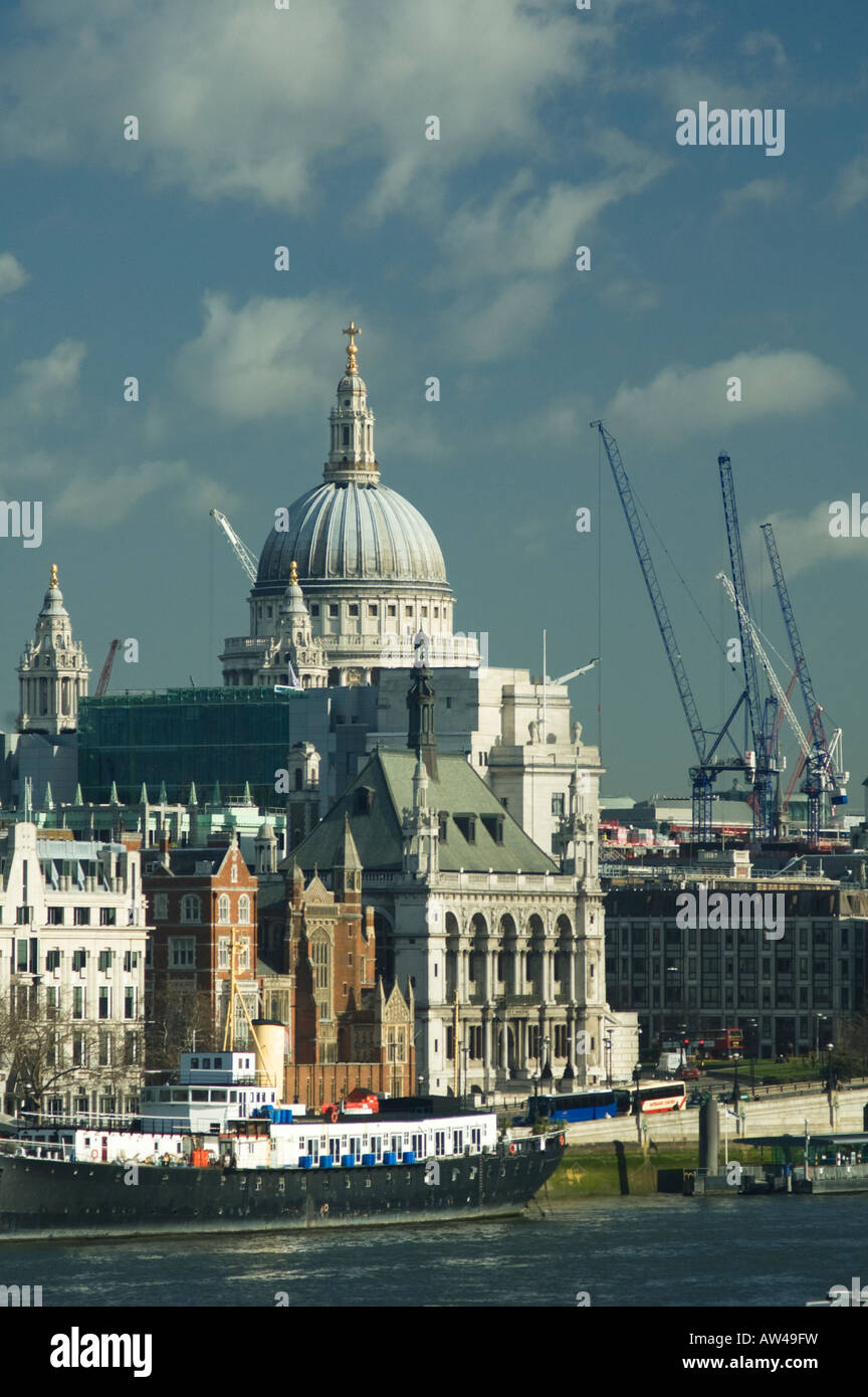 St Paul's Cathedral seen from Waterloo Bridge - Stock Image