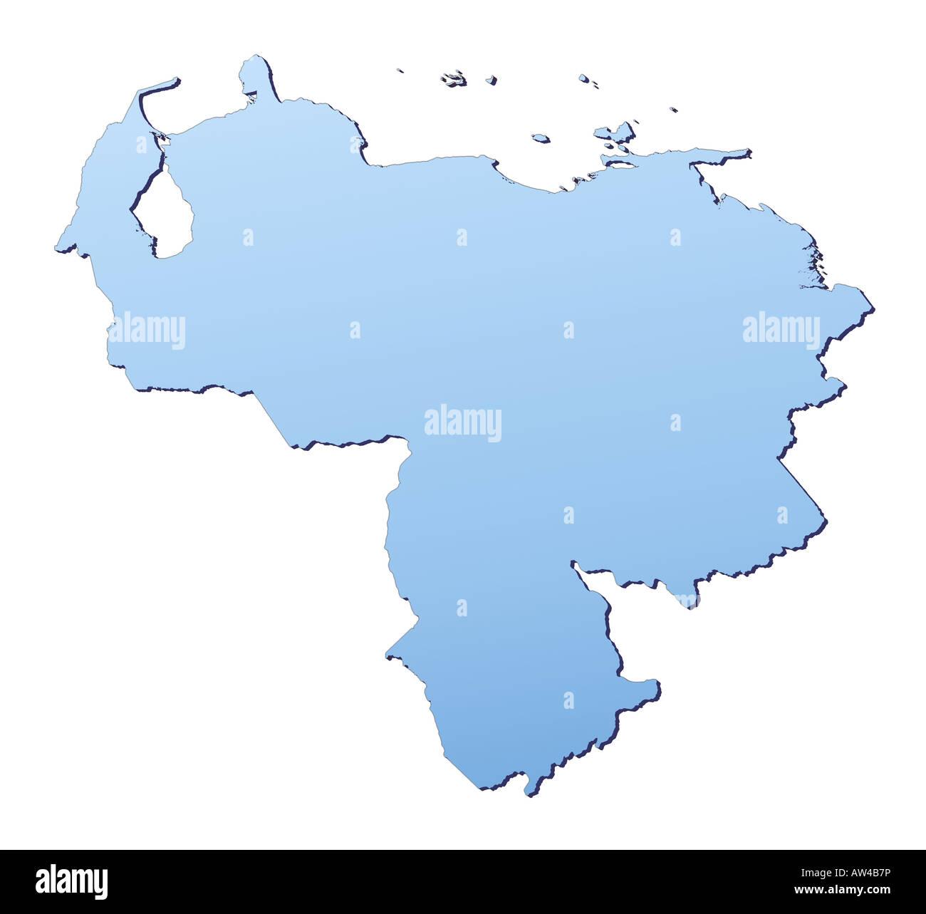 Venezuela map Stock Photo: 16461513 - Alamy