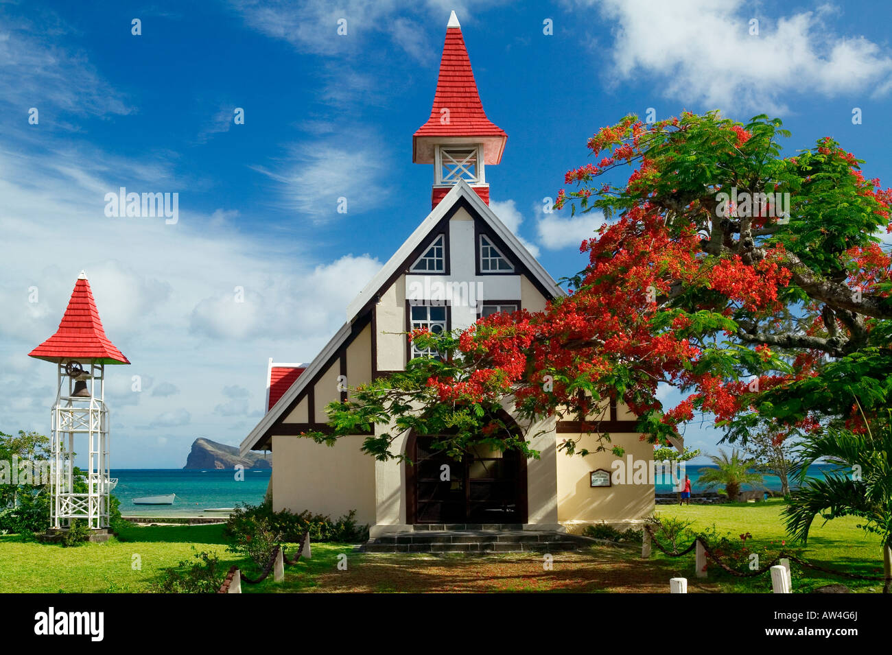 CHURCH - CAP MALHEUREUX - MAURITIUS ISLAND - Stock Image
