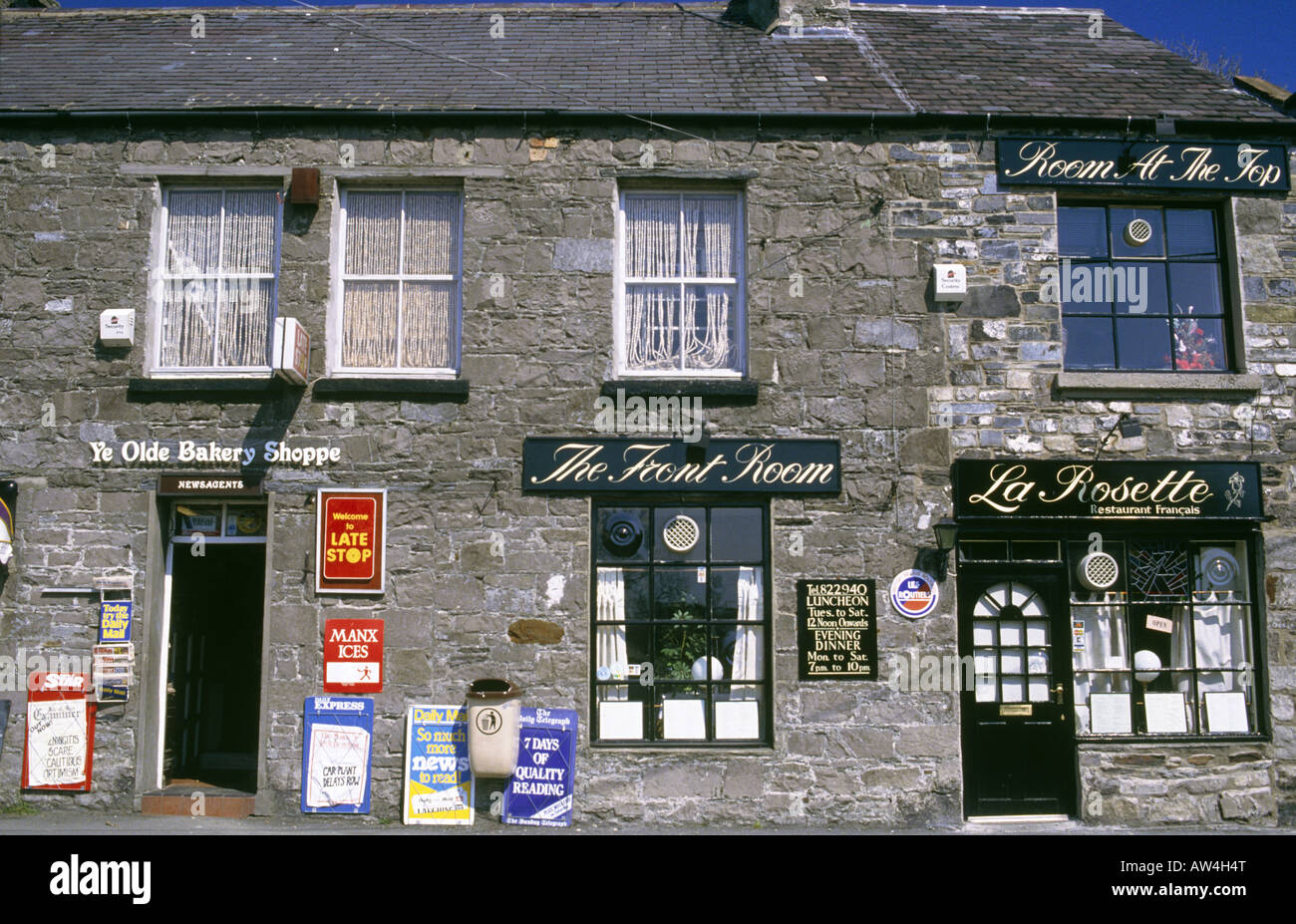 Village Traditional Terraced Houses Signs The Old Bakery Shop La Rosette Restaurant Front Door Tourist Accomodation