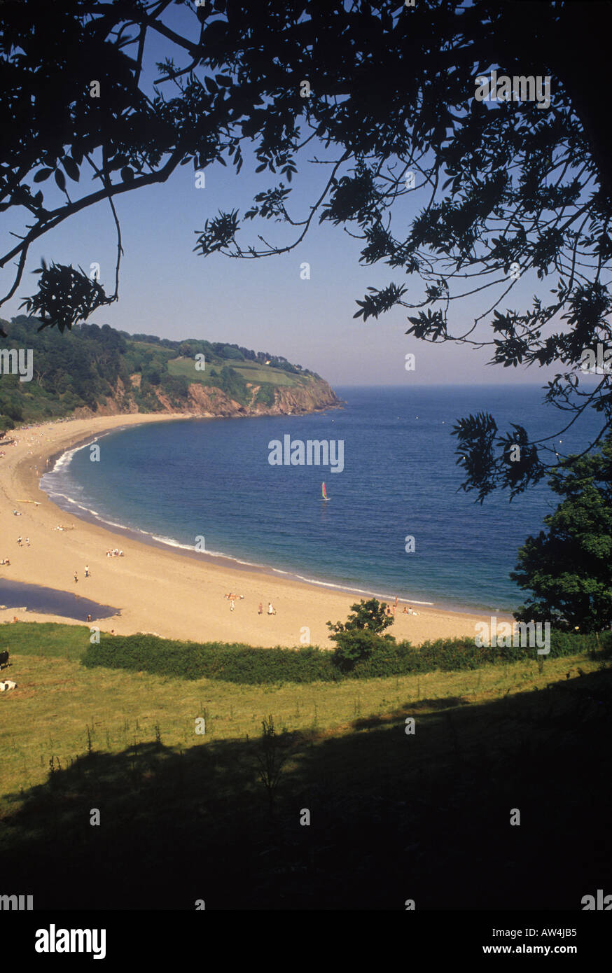 Blackpool Sands Devon England UK - Stock Image