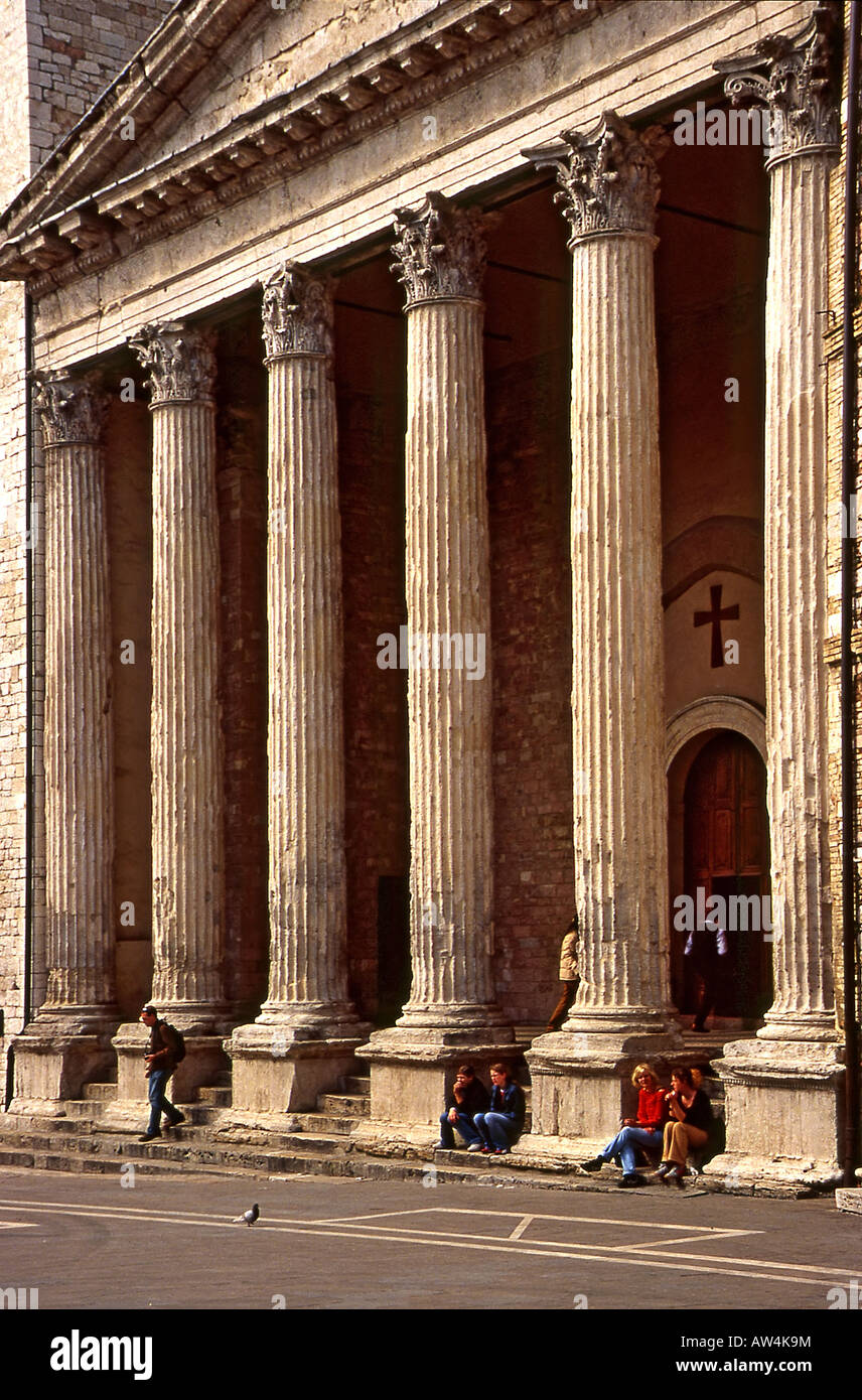 Temple of Minerva  Assisi Rome - Stock Image
