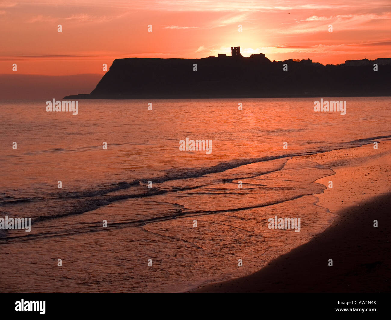 Scalby Mills North Bay Scarborough North Yorkshire - Stock Image