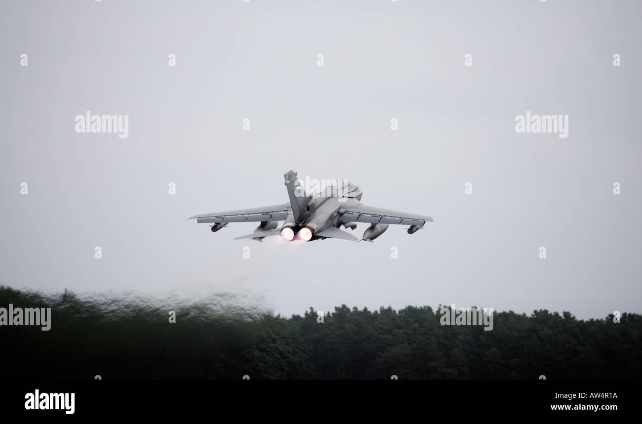 Tornado GR4 fighter jet taking off Stock Photo
