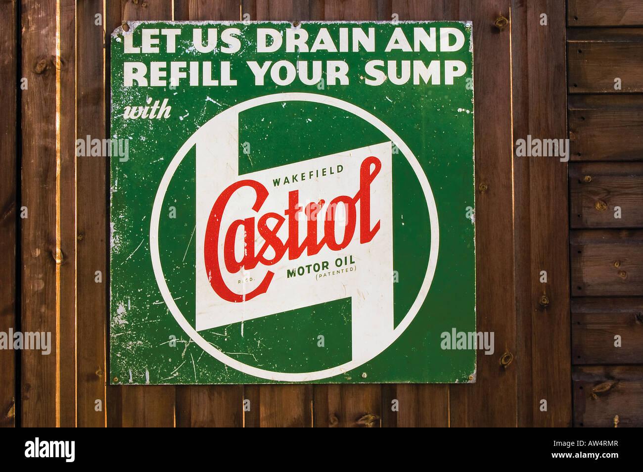Castrol Motor Oil Sign Castrol GTX Oil Castrol Lubricants Garage Shop Tin Sign