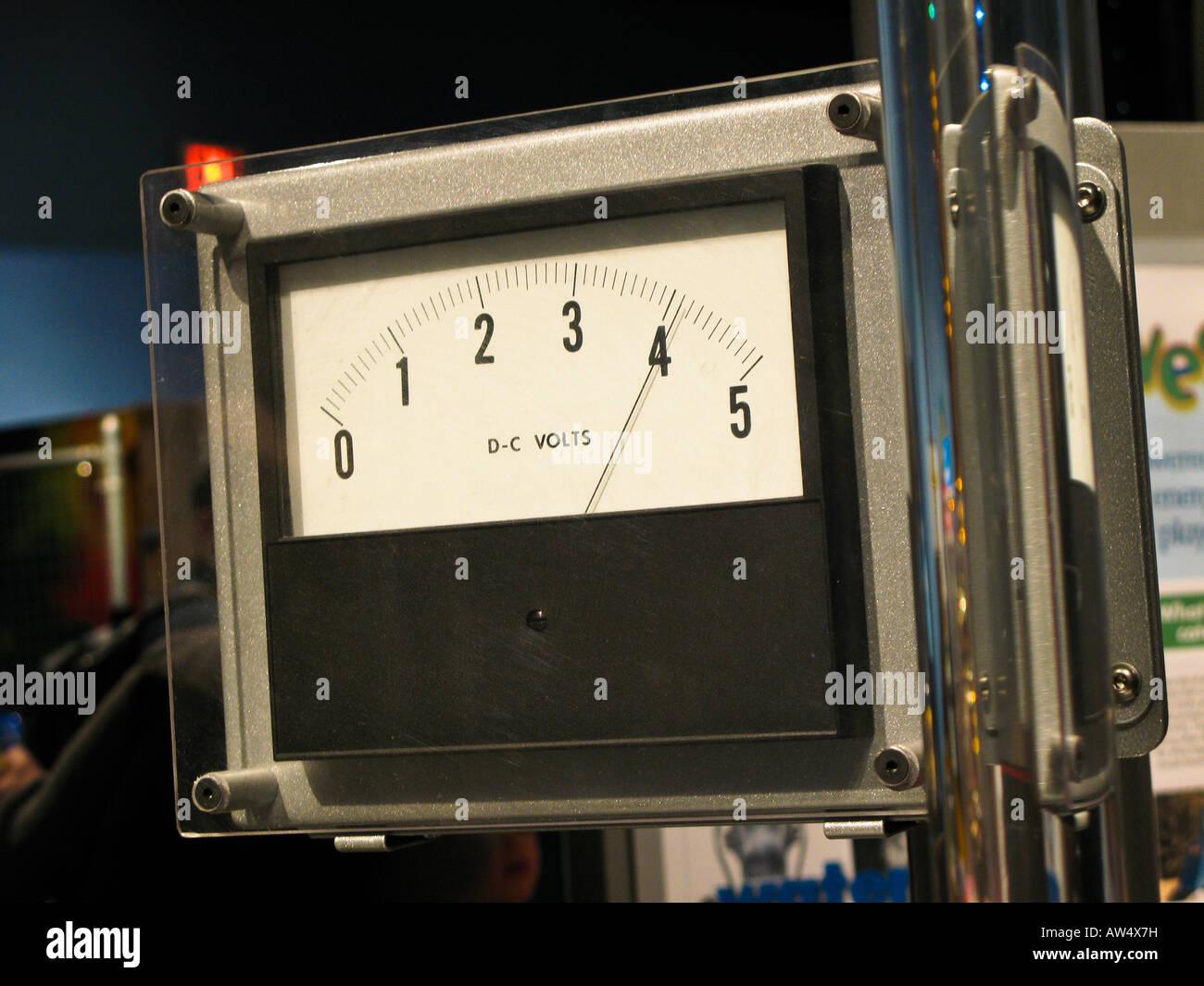 Analog voltmeter - Stock Image