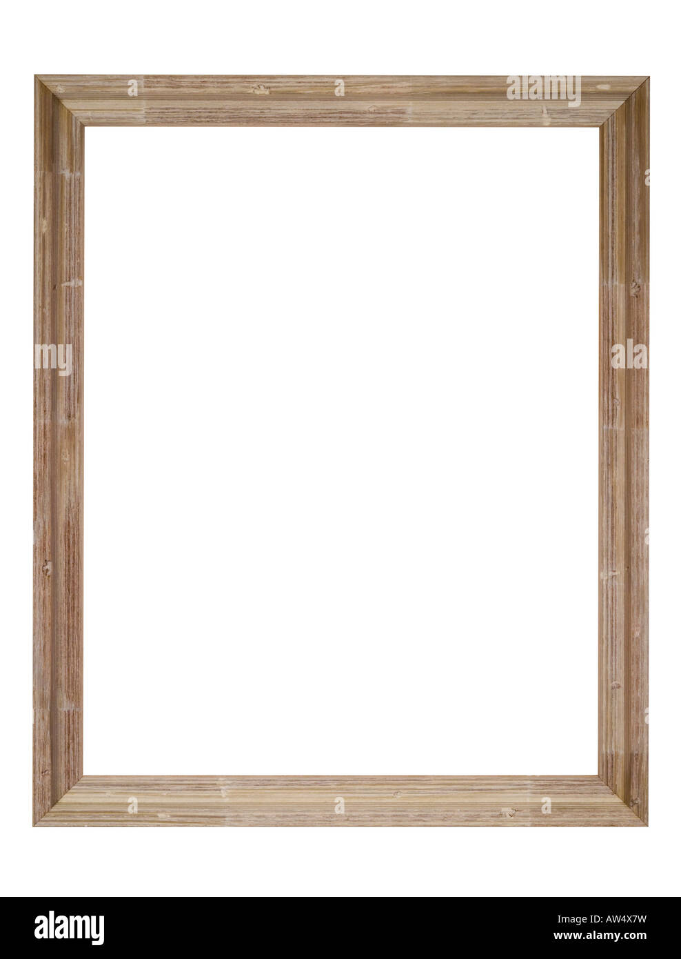Picture Frame In Light Brown Wood Distressed Wood Grain Shabby And