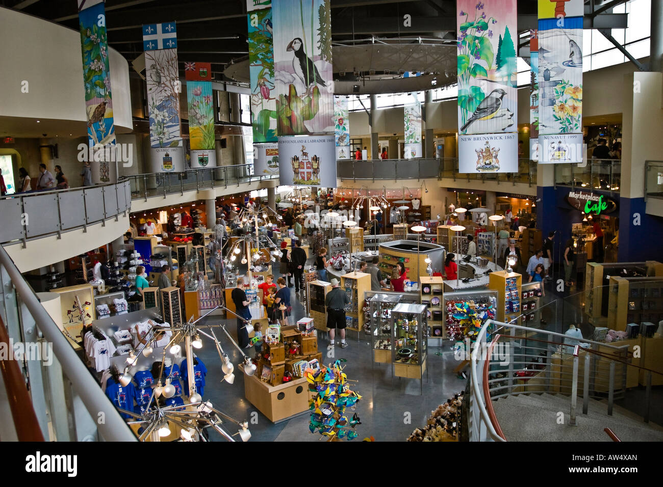 People Shopping At The Cn Tower Gift And Souvenir Shop Inside Cn