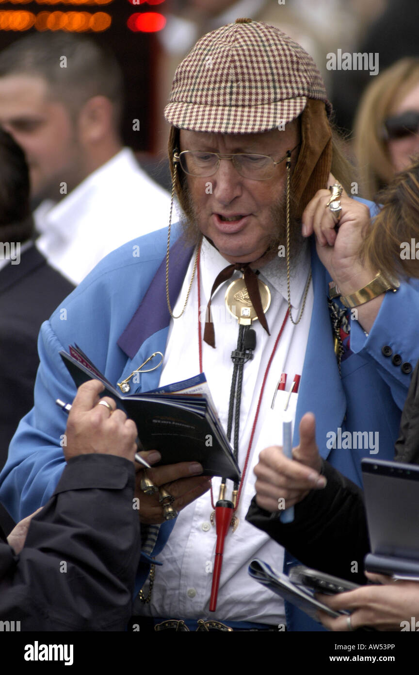 John McCririck (Big Mac)  Channel 4 horse racing pundit Stock Photo