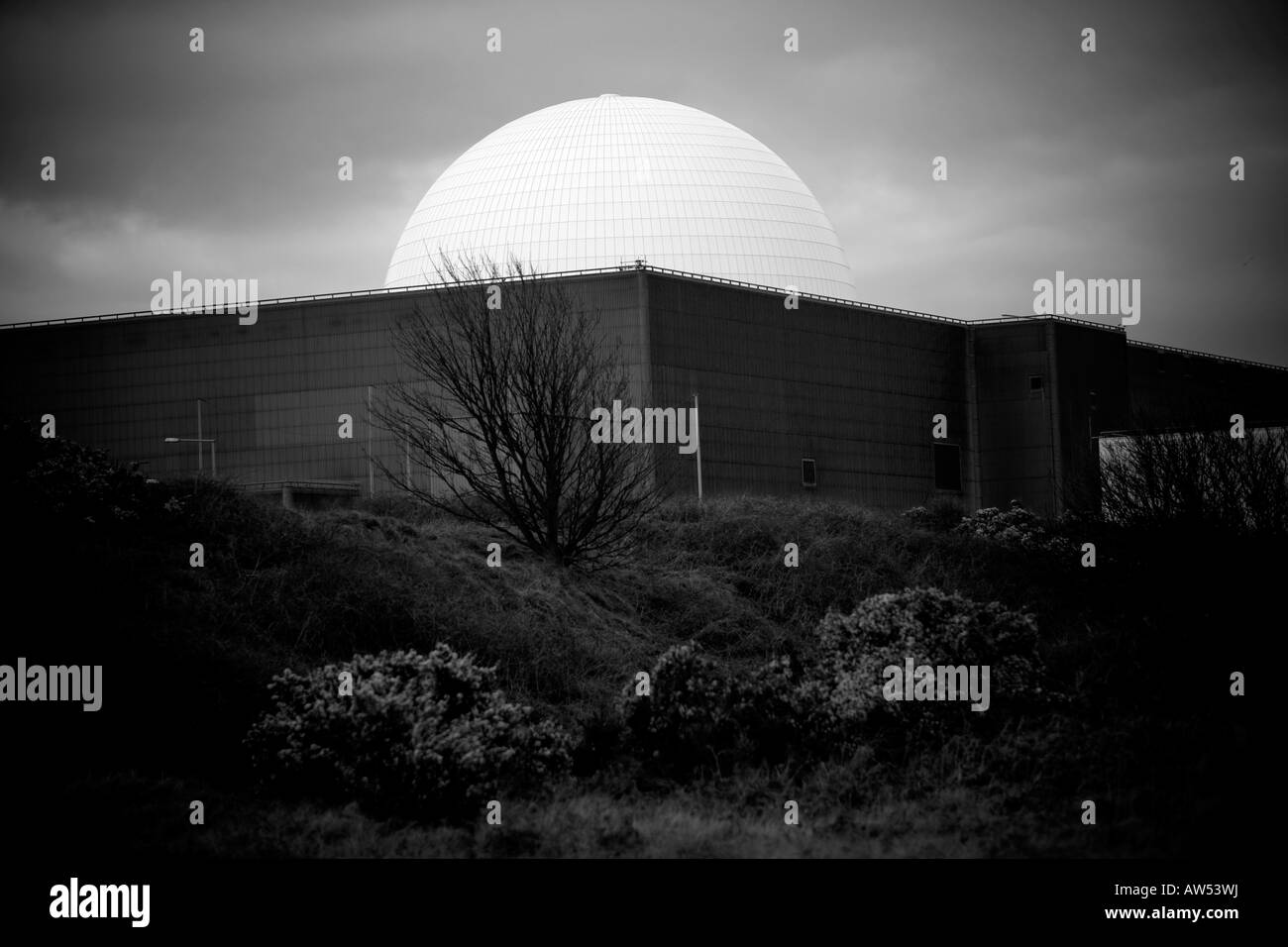 Sizewell B with dome Nuclear Power Stations on the Suffolk coast of Britain - Stock Image