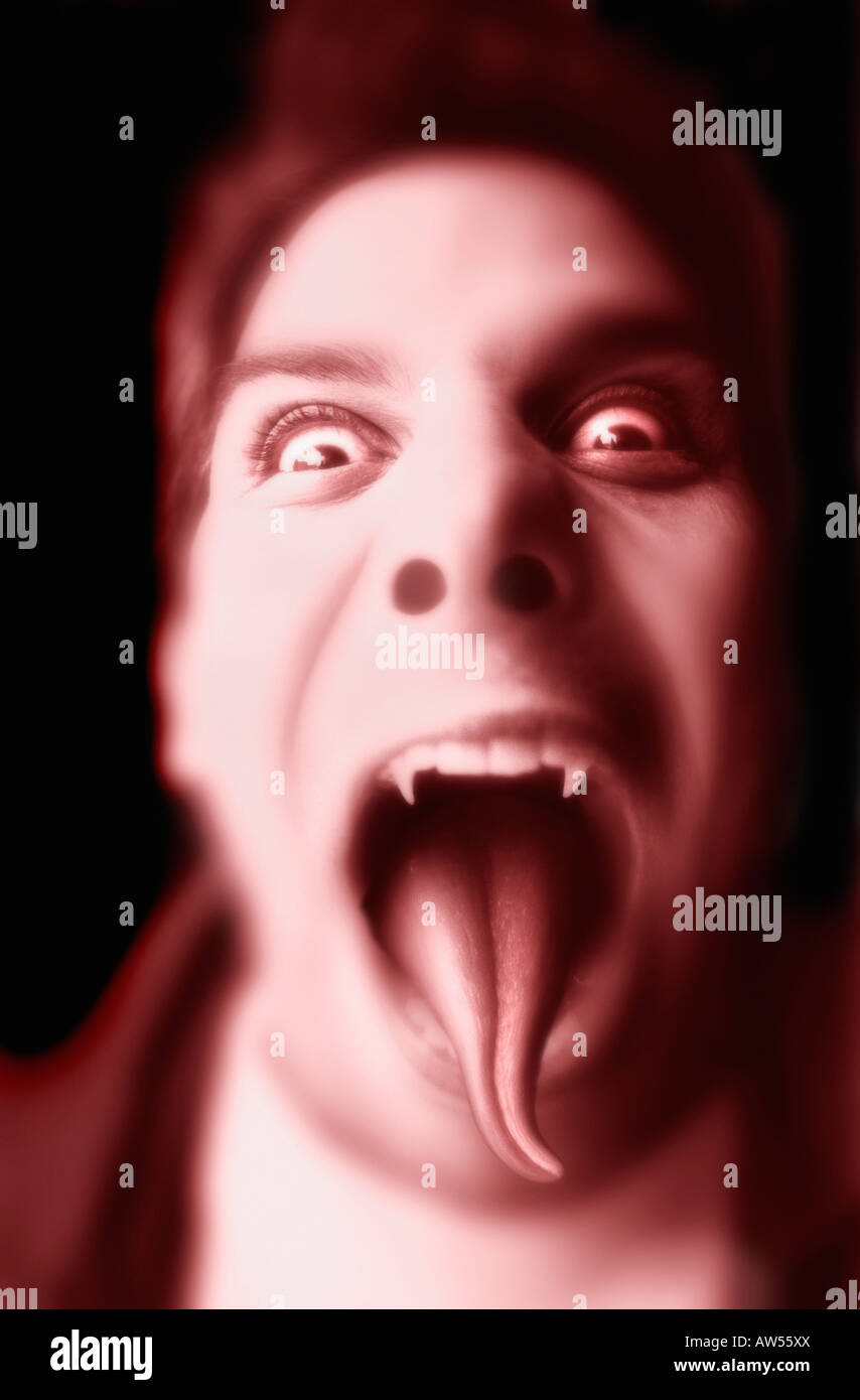 A demonic appearance - Stock Image