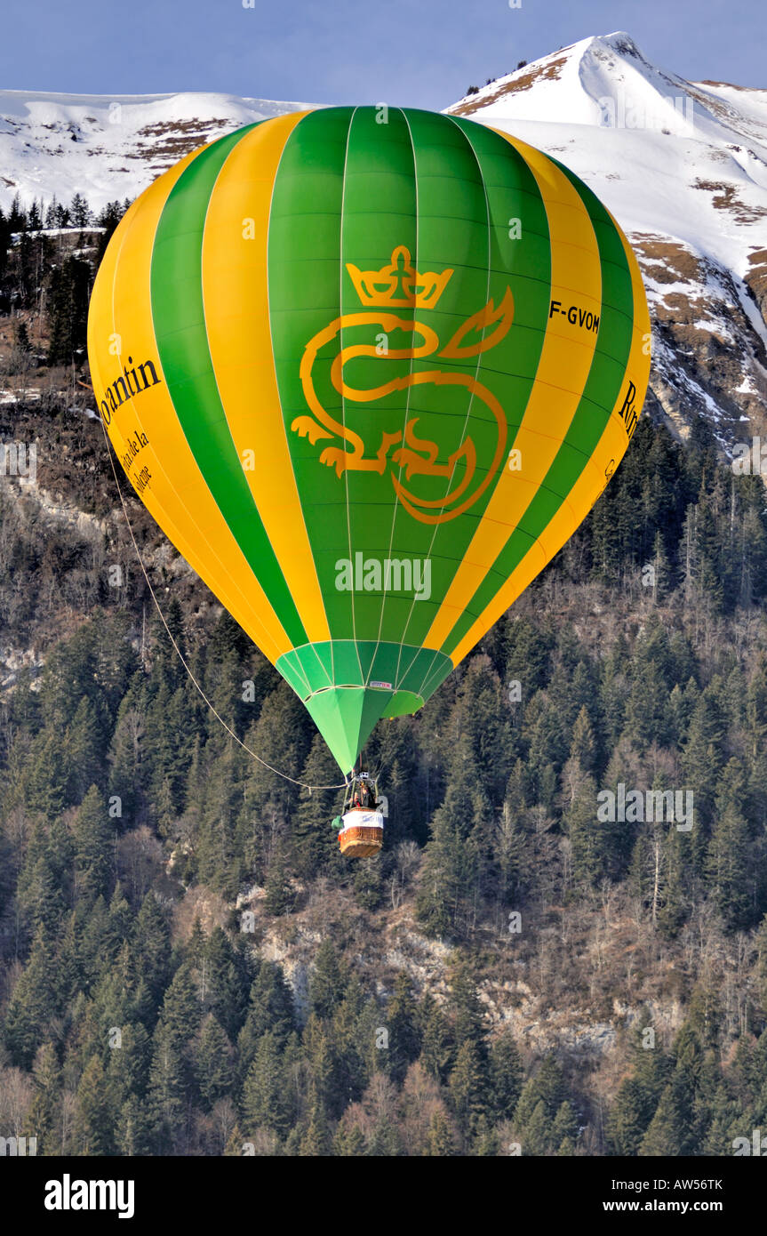 Chateau d'Oex Hot Air Balloon Festival Switzerland 2008 - Stock Image
