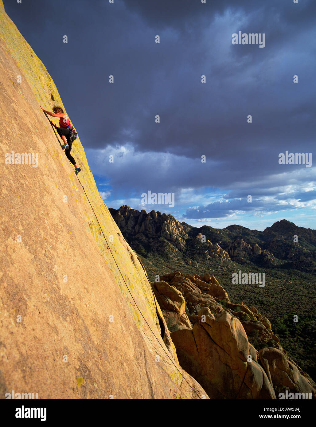 Climber on 'War Paint', Cochise Stronghold - Stock Image