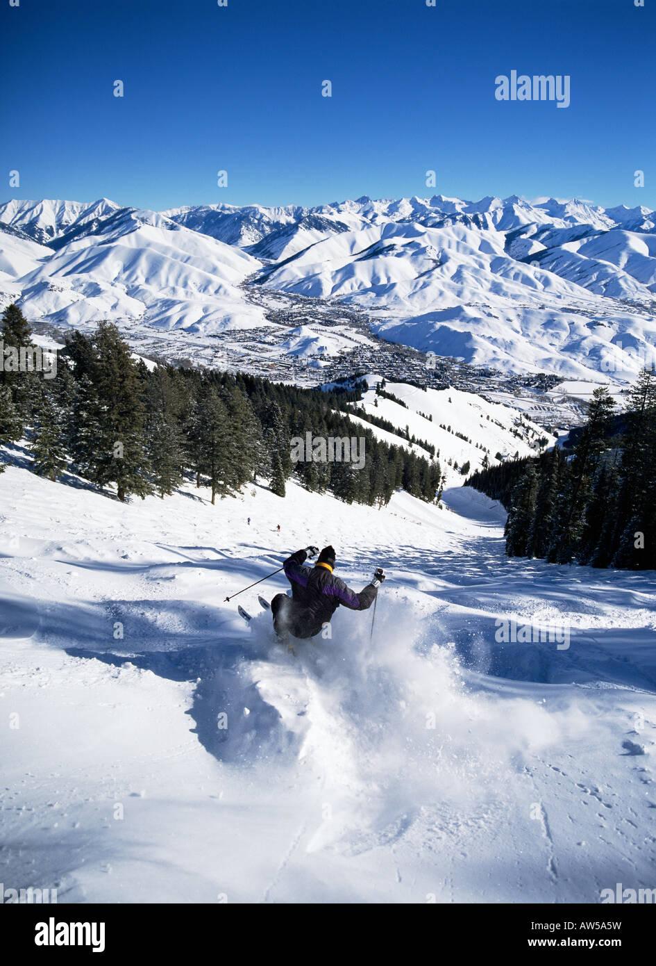 Sun Valley ski area - Stock Image