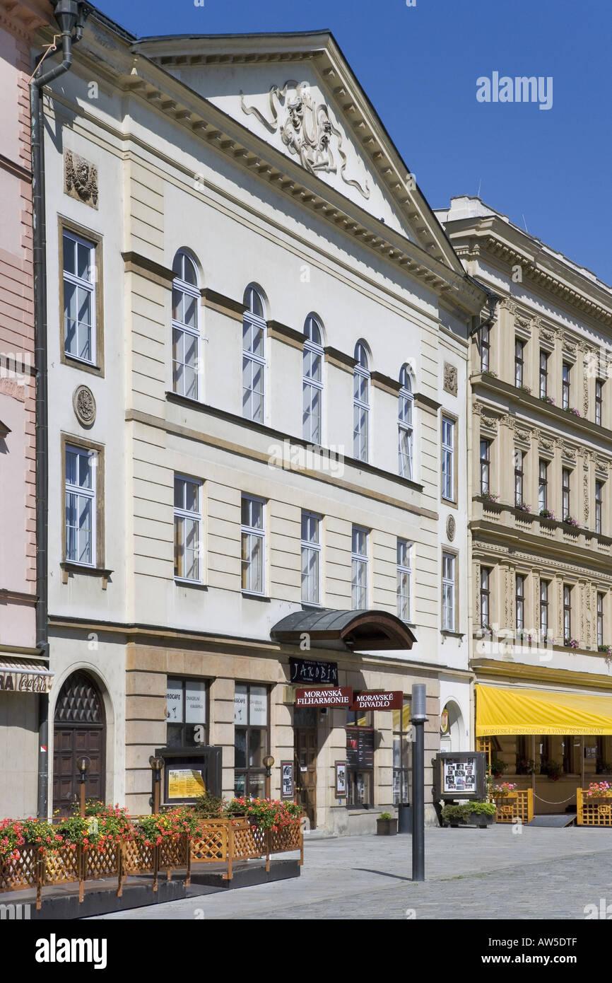 Moravian Theatre Upper Square Olomouc Czech Republic - Stock Image
