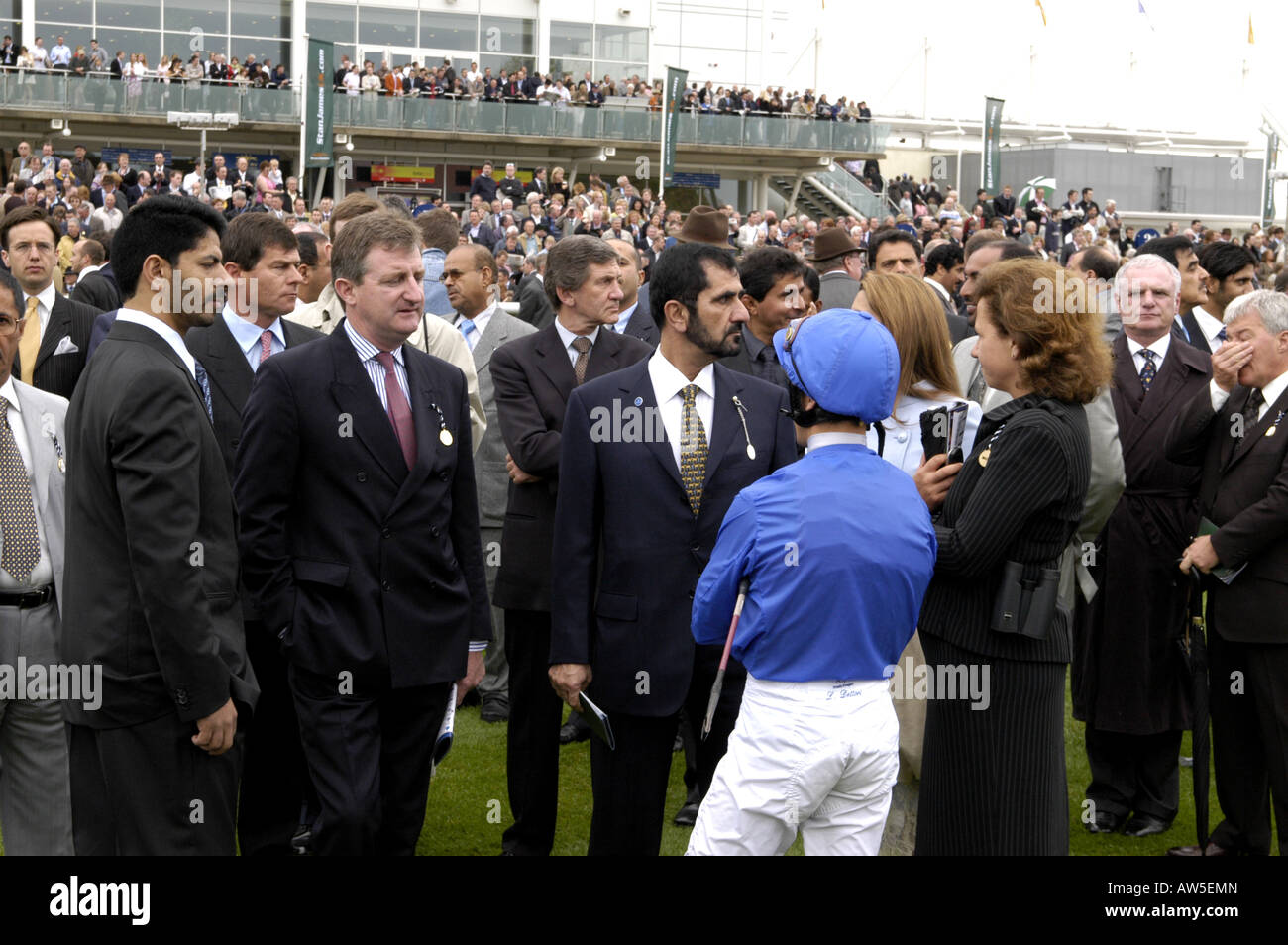 Frankie Dettori with His Royal Highness Sheikh Mohammed bin