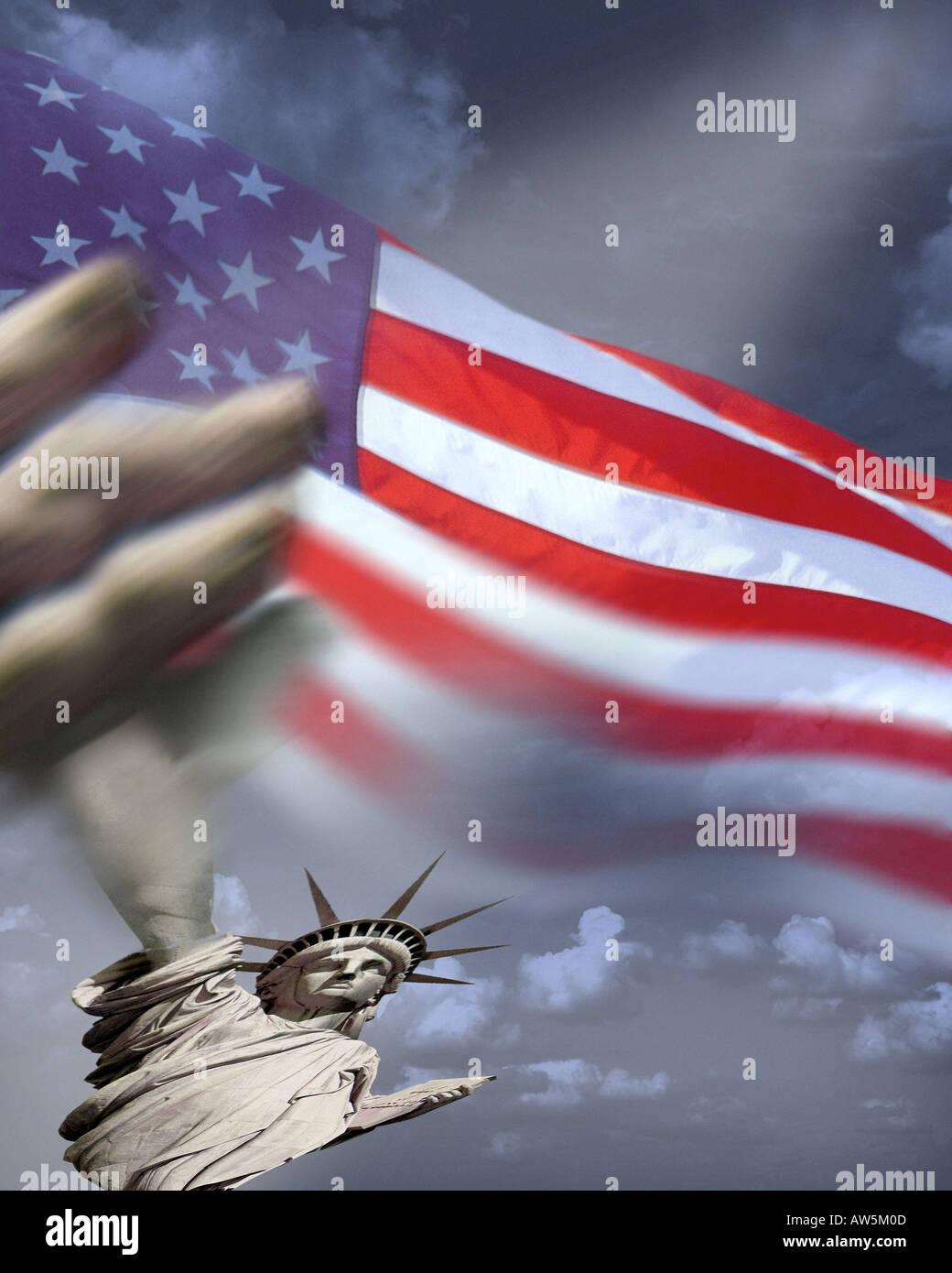 USA - NEW YORK:  Statue of Liberty - Stock Image