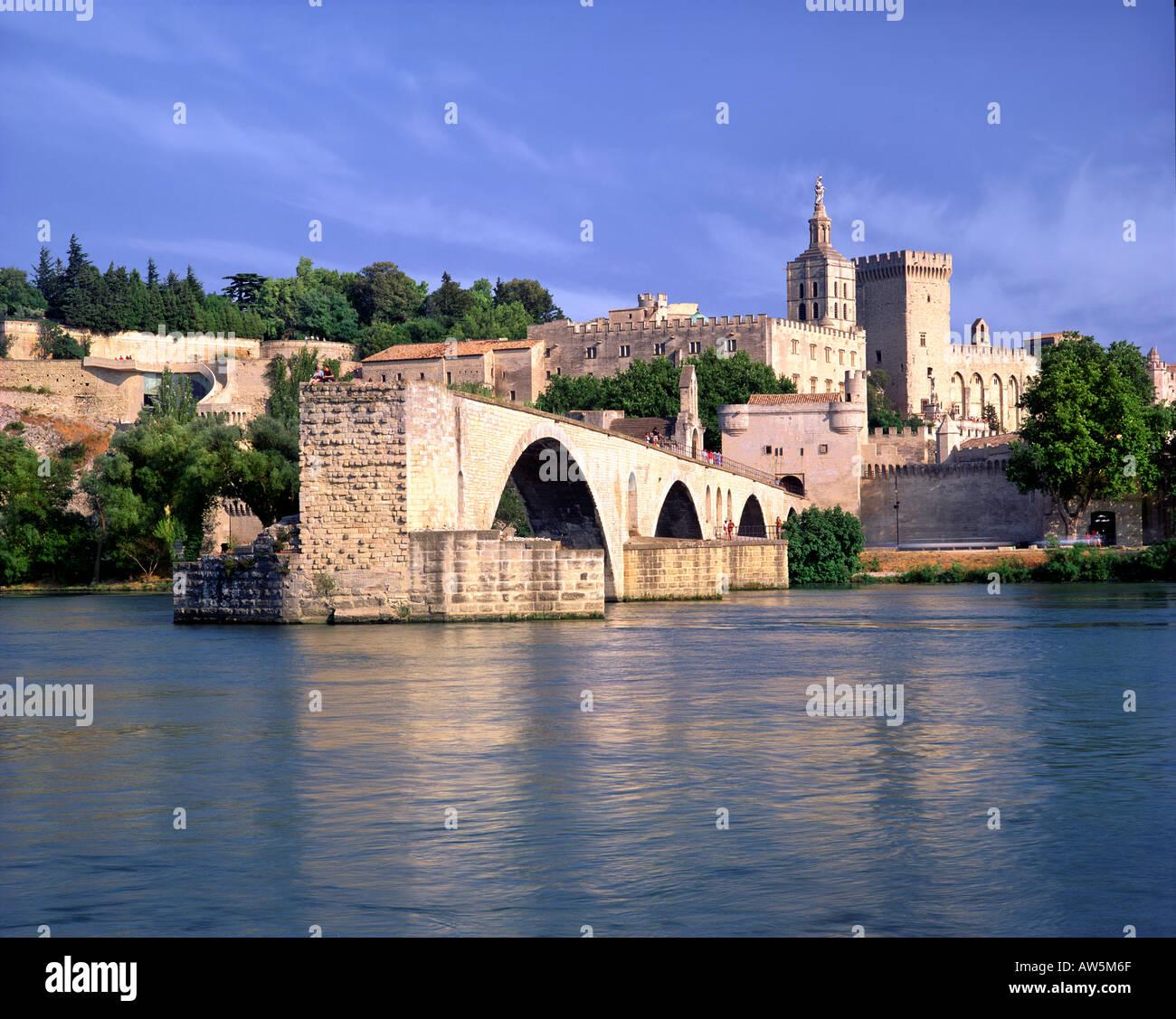 FR - PROVENCE:  Pont St. Benezet at Avignon - Stock Image