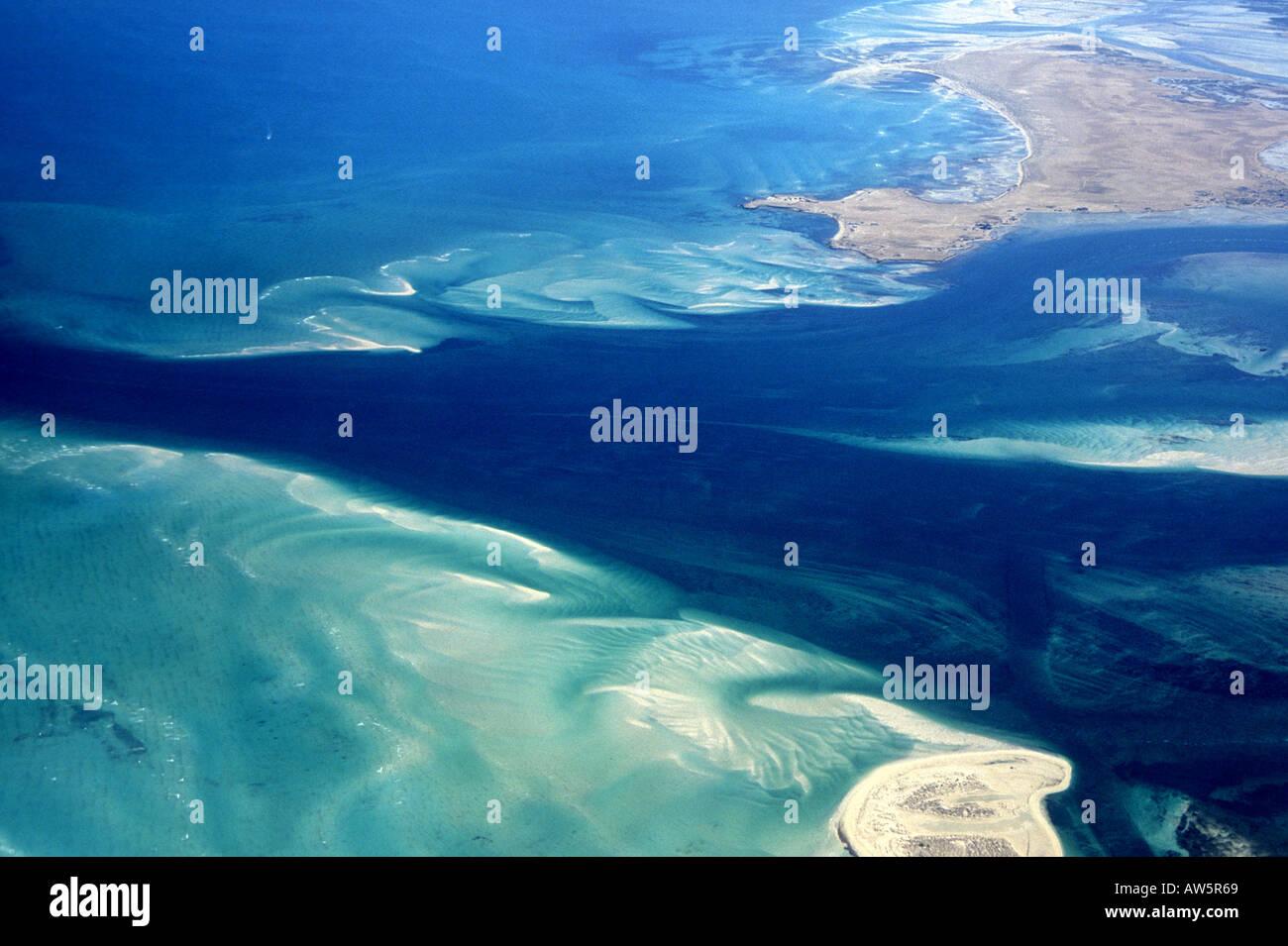 Qatar: the great inland sea  Khor al Udeid - Stock Image