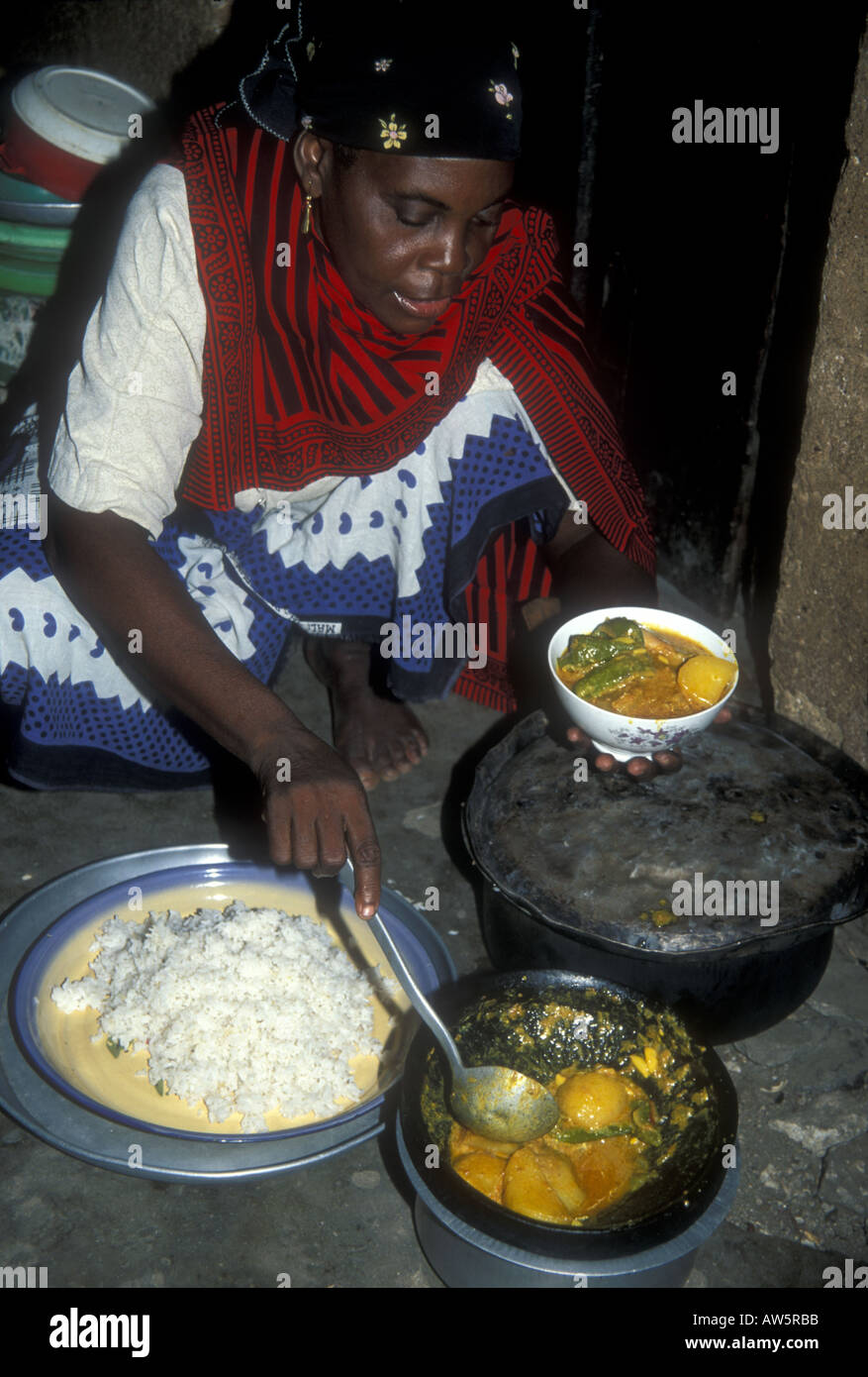 Simple Cape Town Eid Al-Fitr Food - a-muslim-woman-in-tanzania-prepares-the-family-meal-for-eid-el-fitr-AW5RBB  Image_512657 .jpg