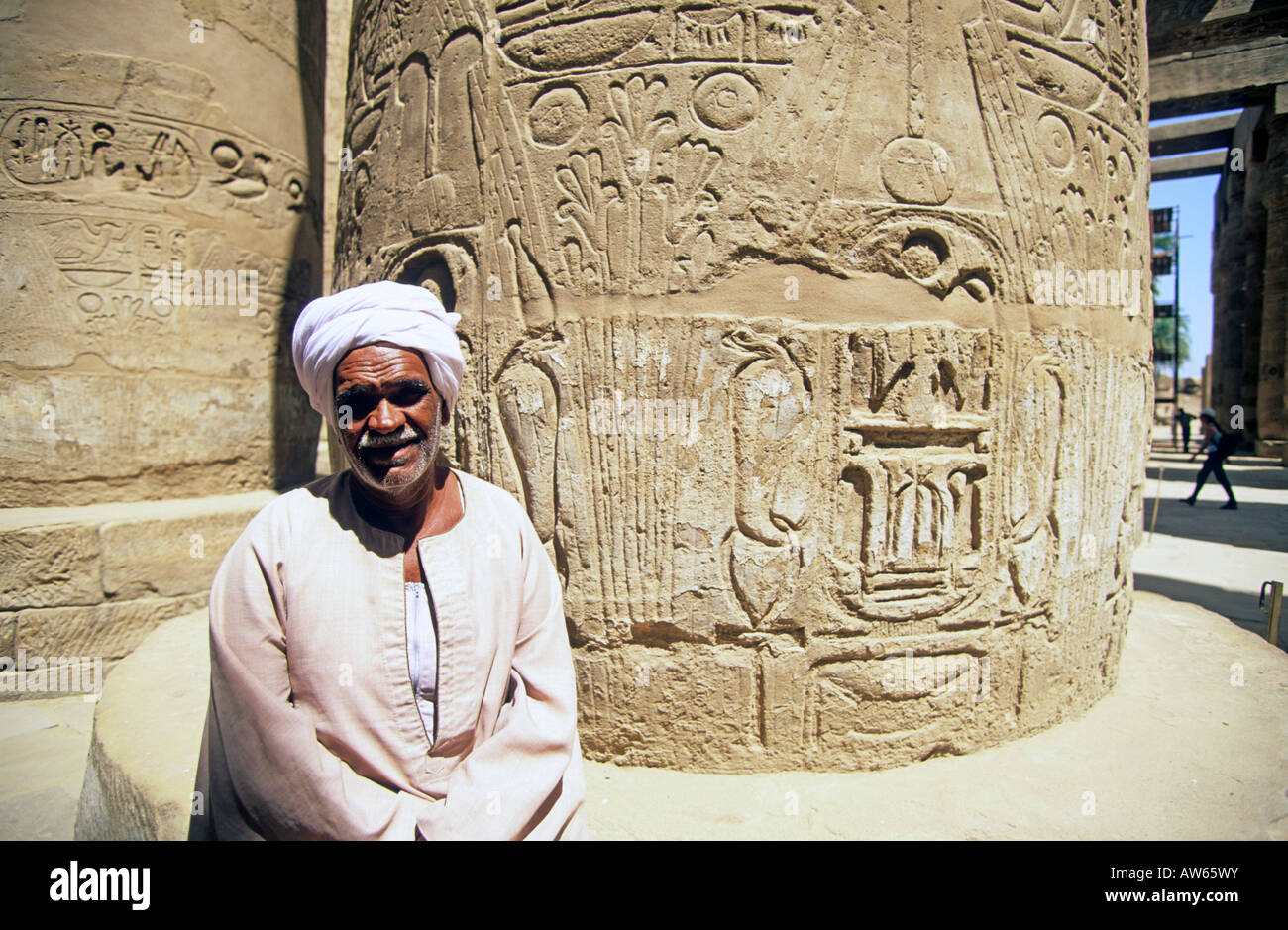 north africa upper egypt luxor the temple of karnak - Stock Image