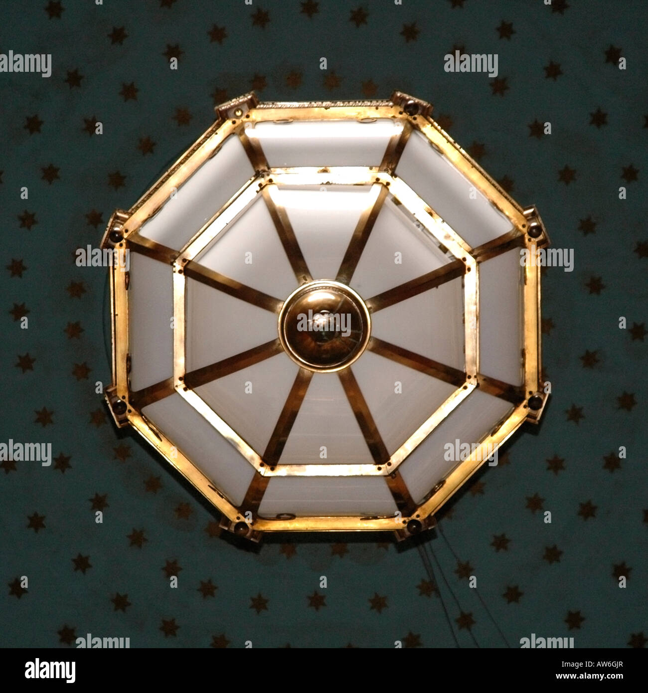 Light in the entrance hall to Leeds Town Hall - Stock Image