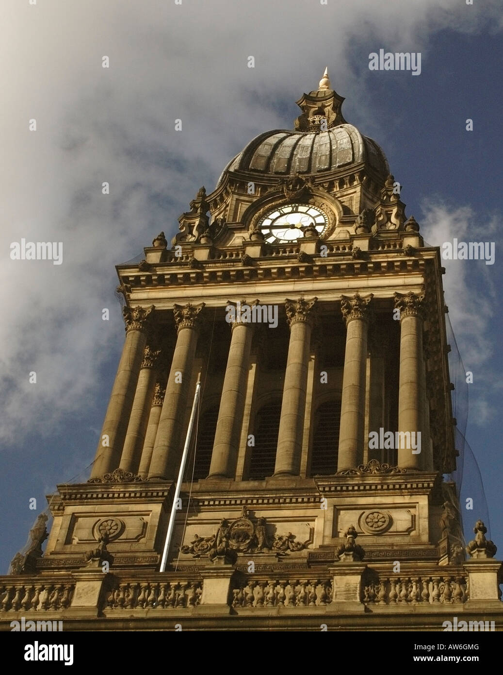 The Clock Tower, Leeds Town Hall - Stock Image