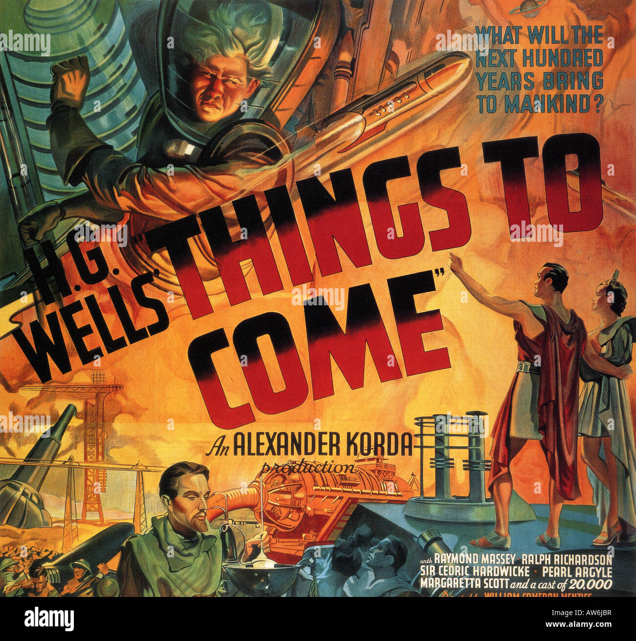THINGS TO COME - poster for 1936 London Films adaption of the novel by HG Wells - Stock Image