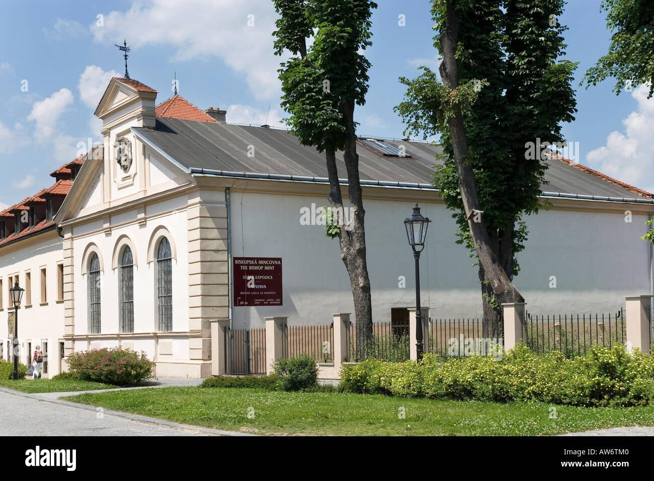 Bishop Mint 17th Cent Museum of Numismatics Kromeriz Czech Republic - Stock Image