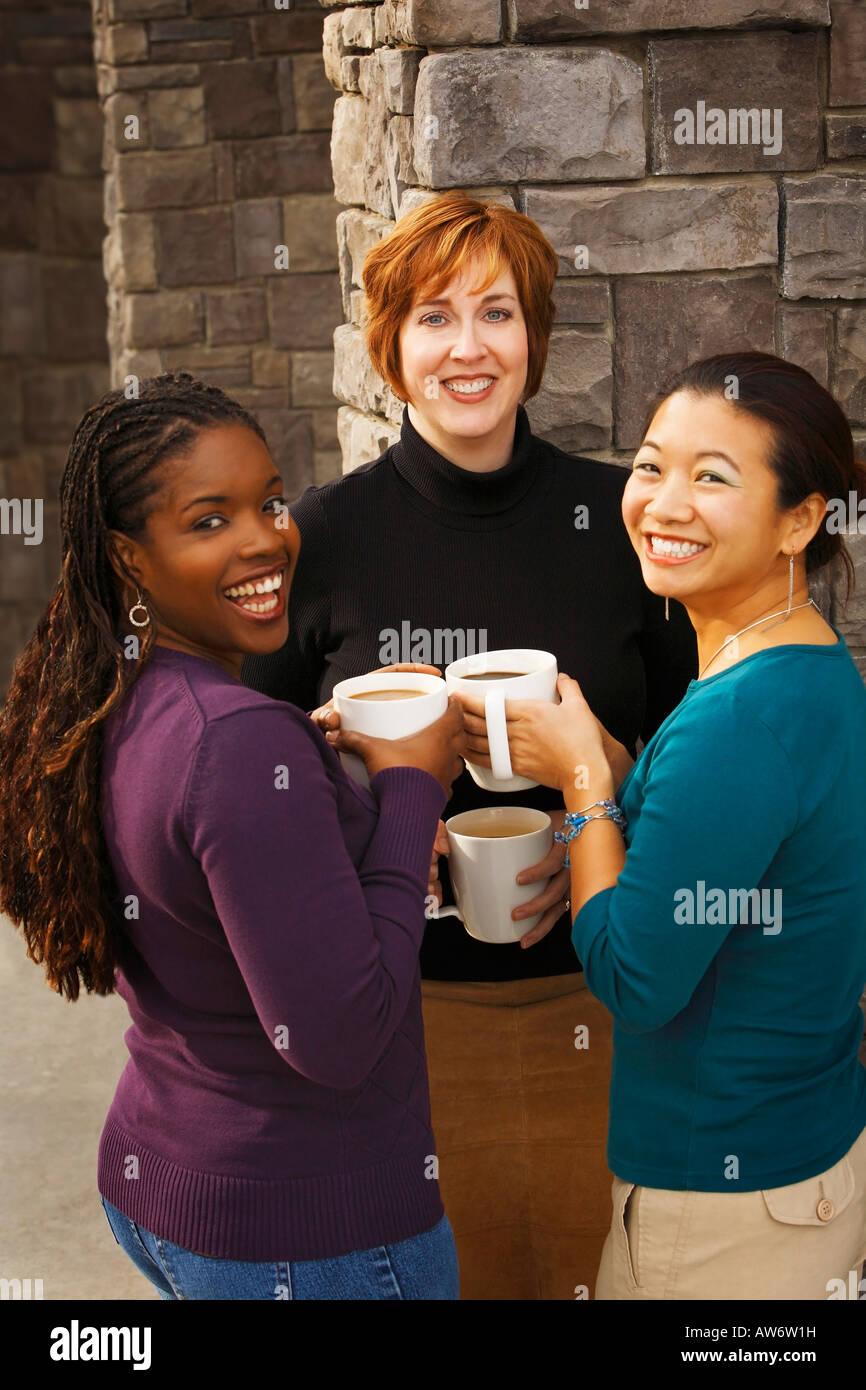 Portrait of three women - Stock Image