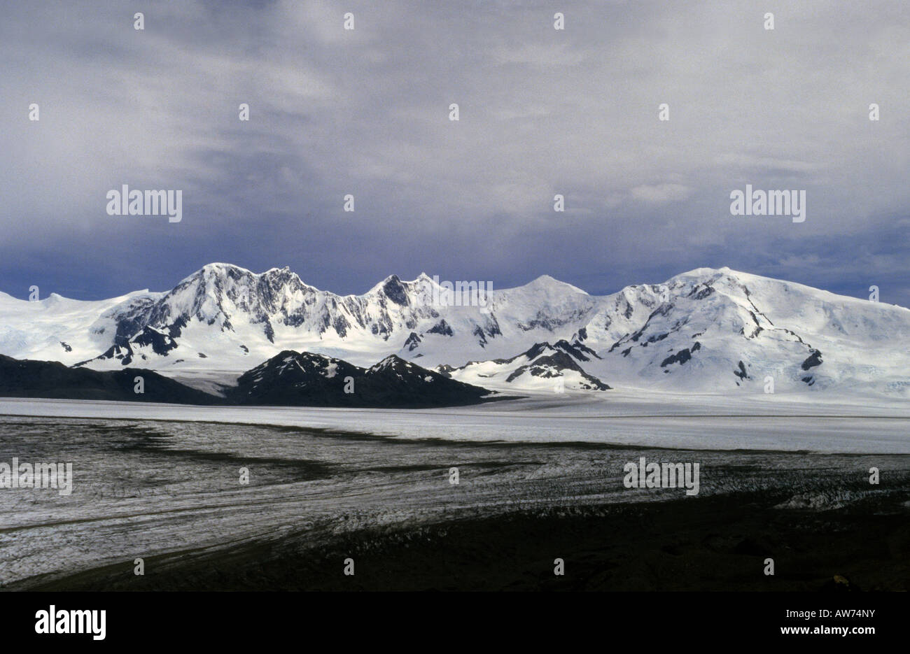 A view of the Moreno Range and the Patagonic continental ice cap - Stock Image