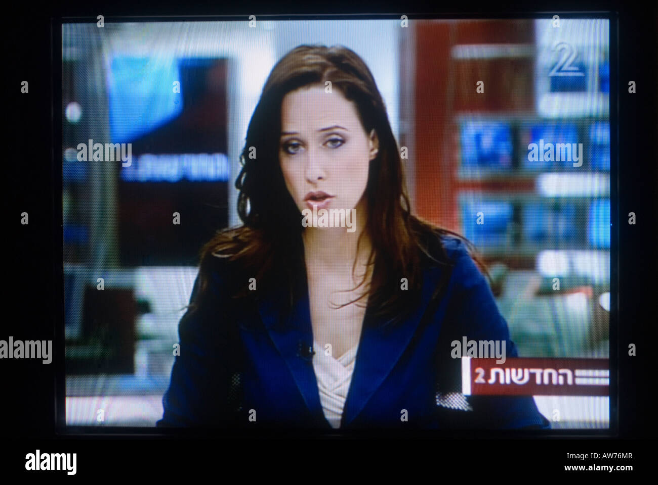 Screen shot of Israeli news anchor and reporter Yonit Levi