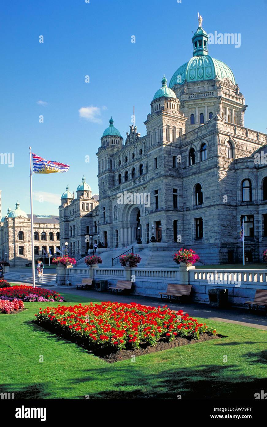 Elk142 1077 Canada Victoria British Columbia Parliament building Francis Rattenbury architect 1894-1898 - Stock Image