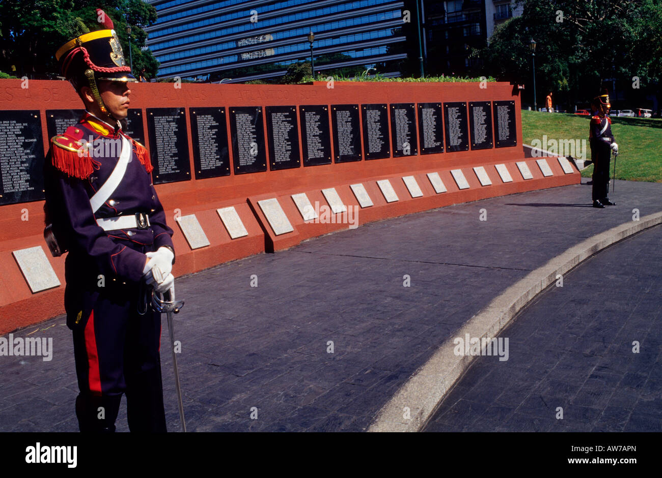 Monument to Falklands war heroes Plaza San Martín Buenos Aires Argentina - Stock Image