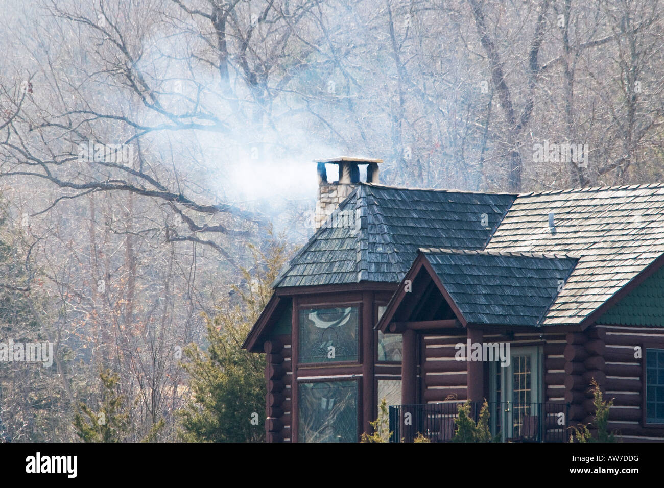 A Log Cabin Rental Located In A Resort Area Of Branson