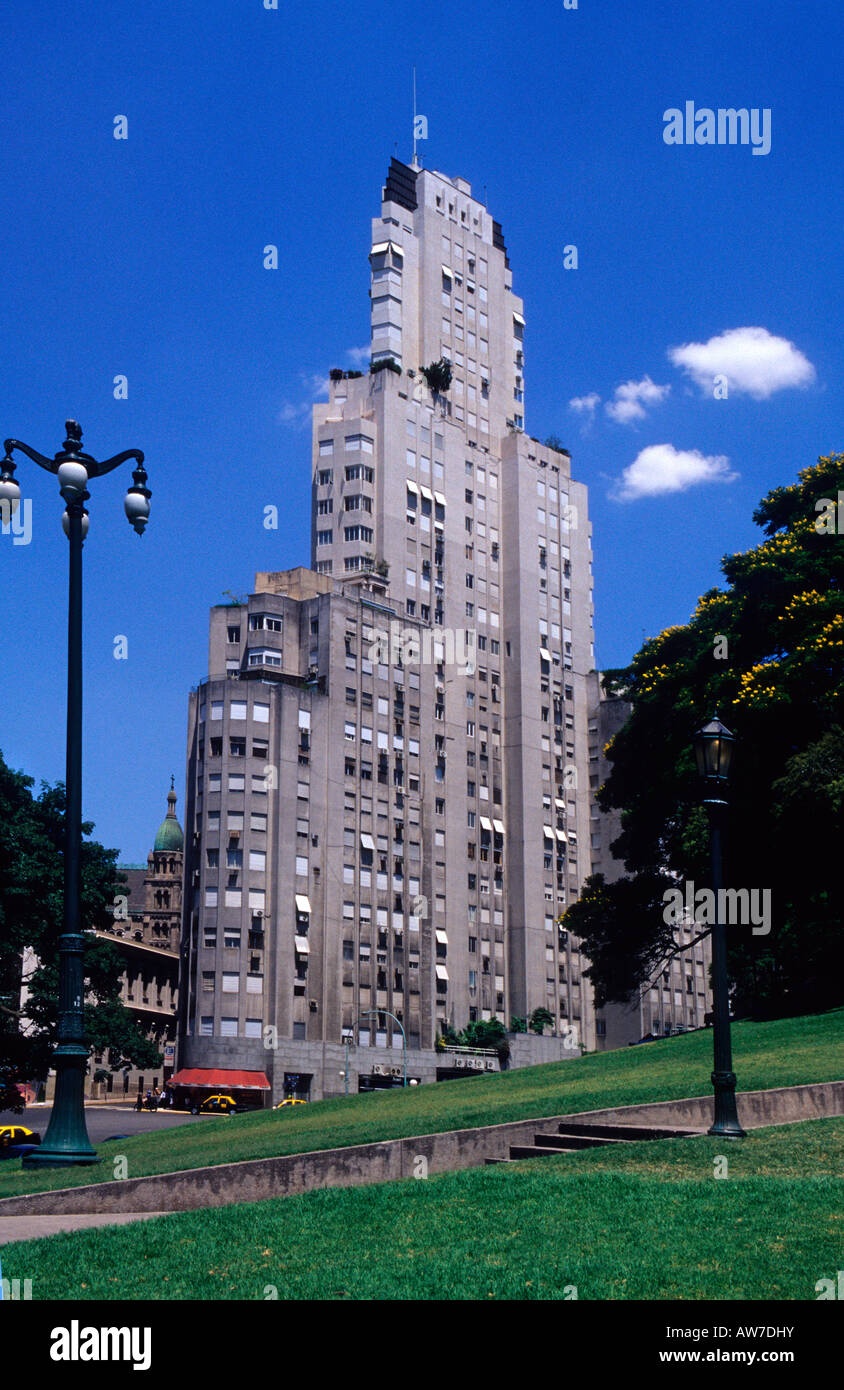 Kavanagh building built in 1935 Plaza San Martin Buenos Aires Argentina - Stock Image