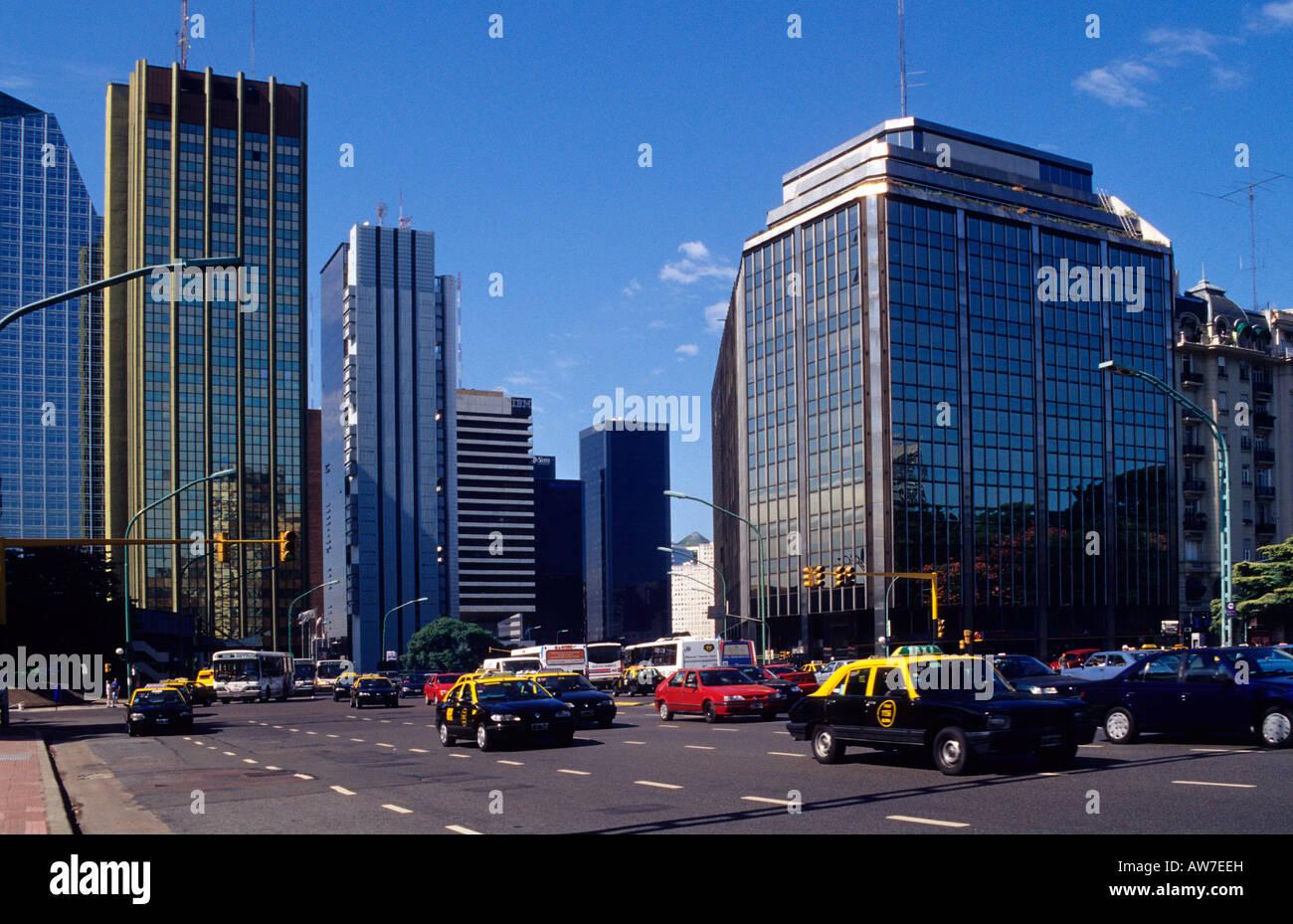 Avenida Libertador buildings near Plaza San Martín Buenos Aires Argentina - Stock Image