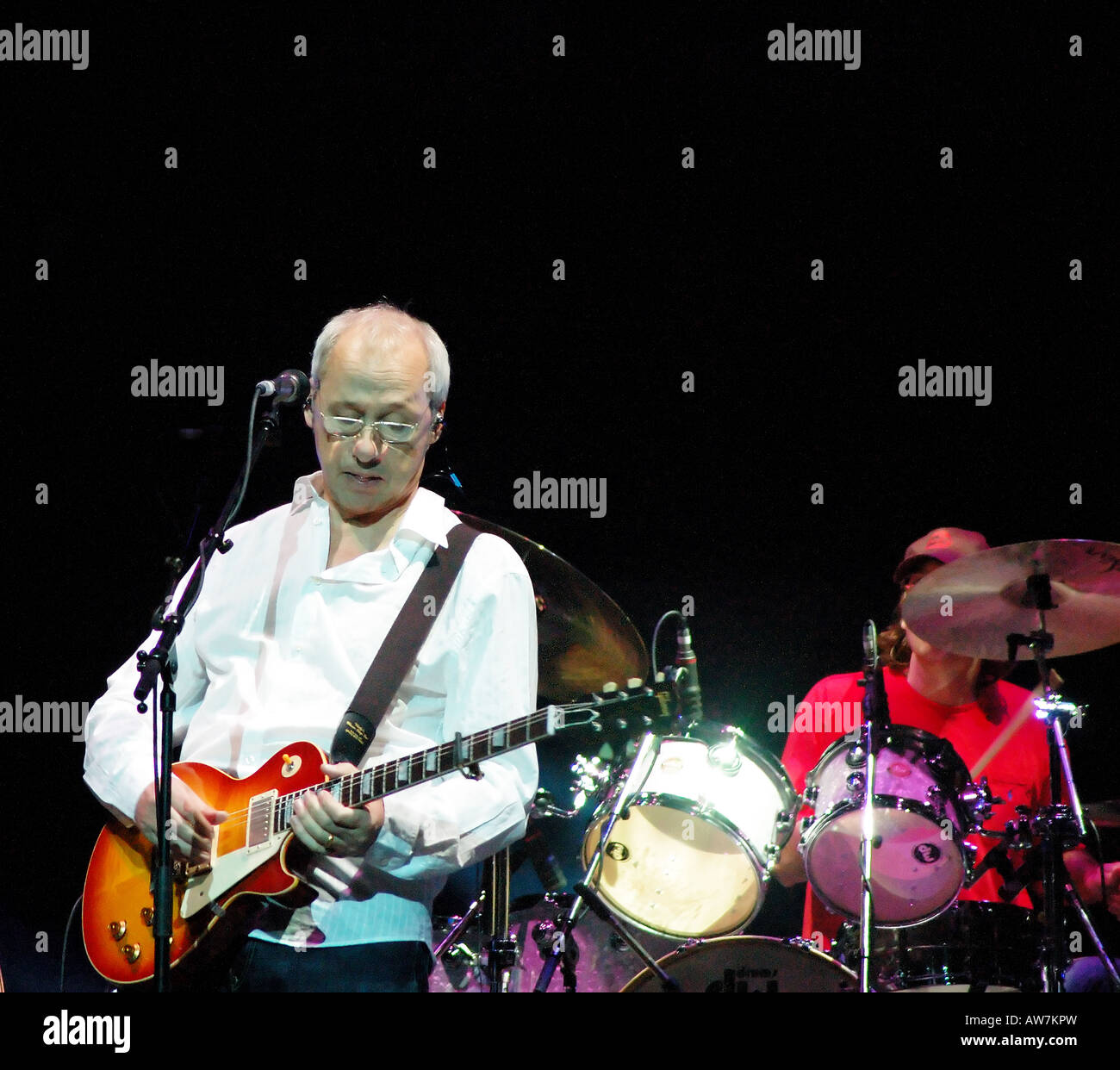 Mark Knopfler performing during his Shangri-La tour in Melbourne, Australia  - Stock Image