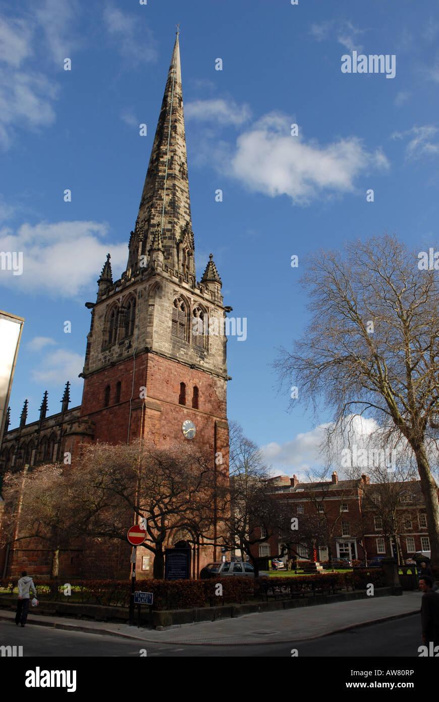 St Mary s church in Shrewsbury Shropshire - Stock Image