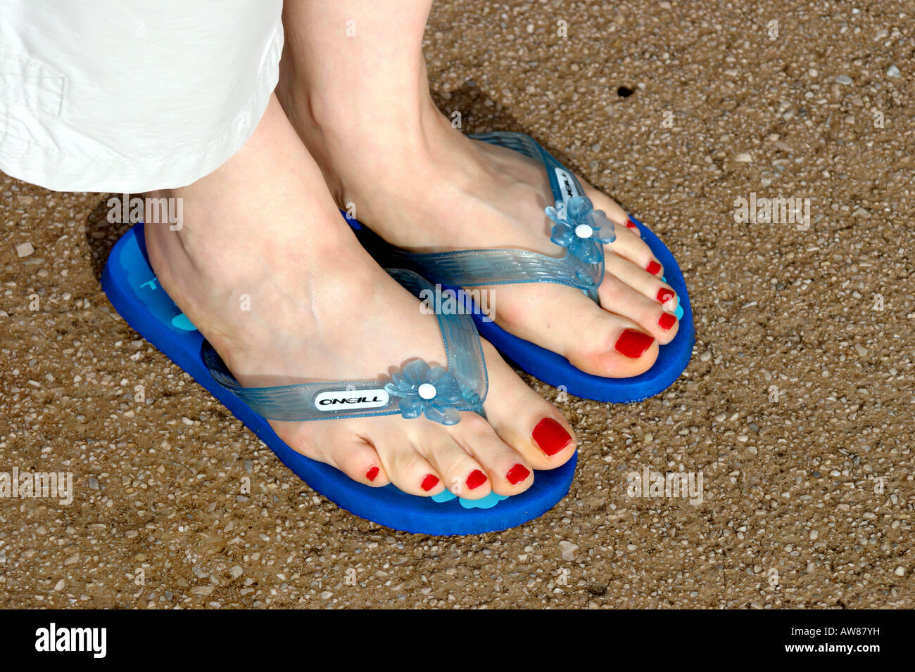 Consider, that painted toenails and flip flops