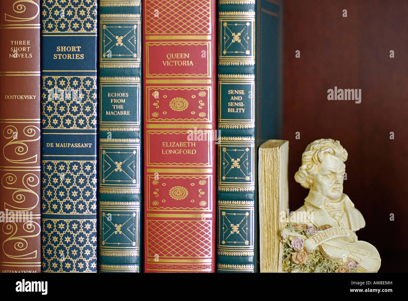 Leather Bound Books Close Stock Photos & Leather Bound Books