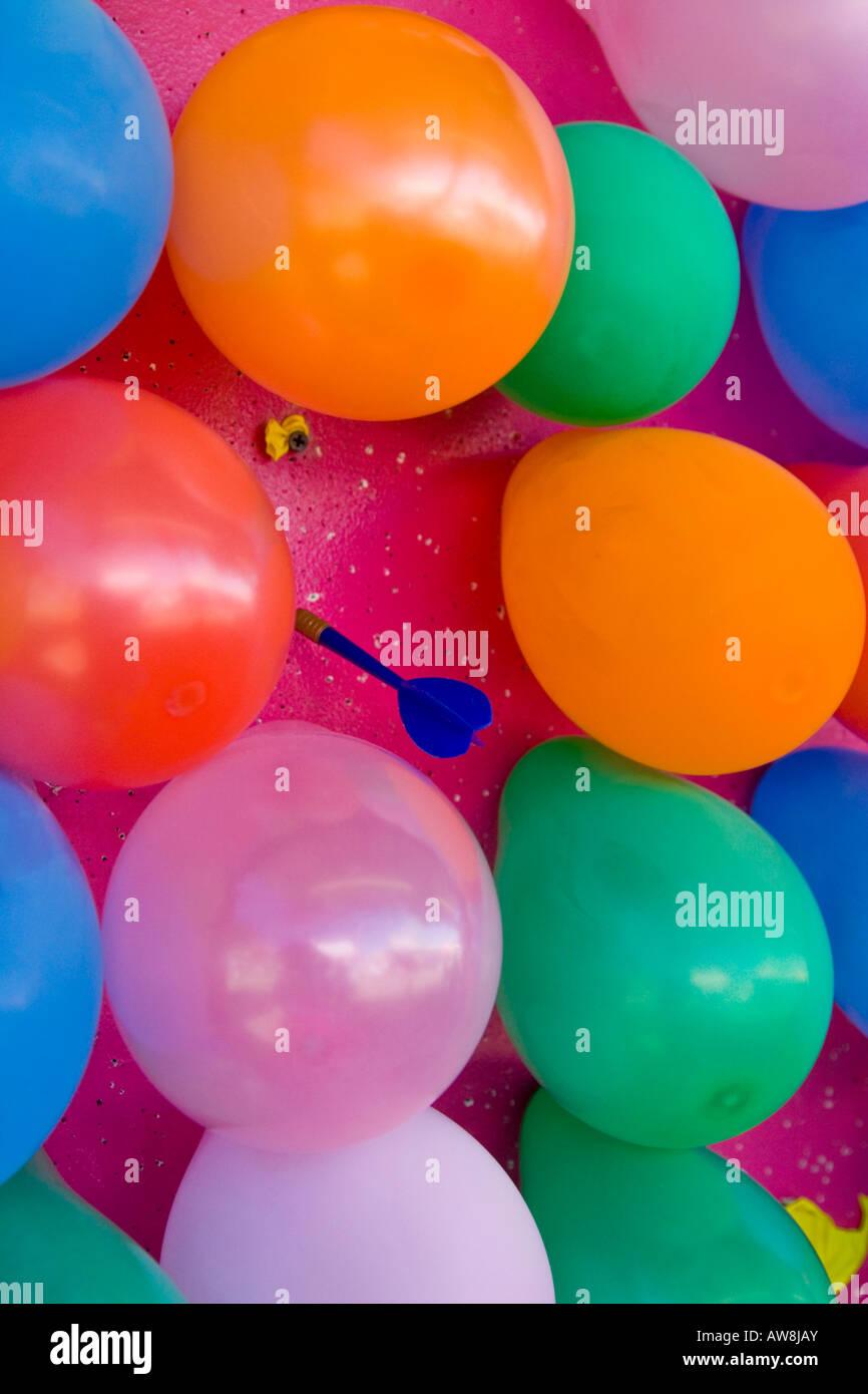 Balloon Dart Throw Carnival Game Stock Photo 16501538 Alamy
