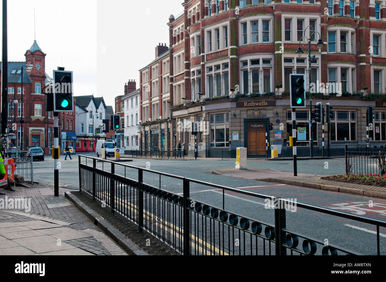 Location of the UK's first set of traffic lights in Wolverhampton - Stock Image