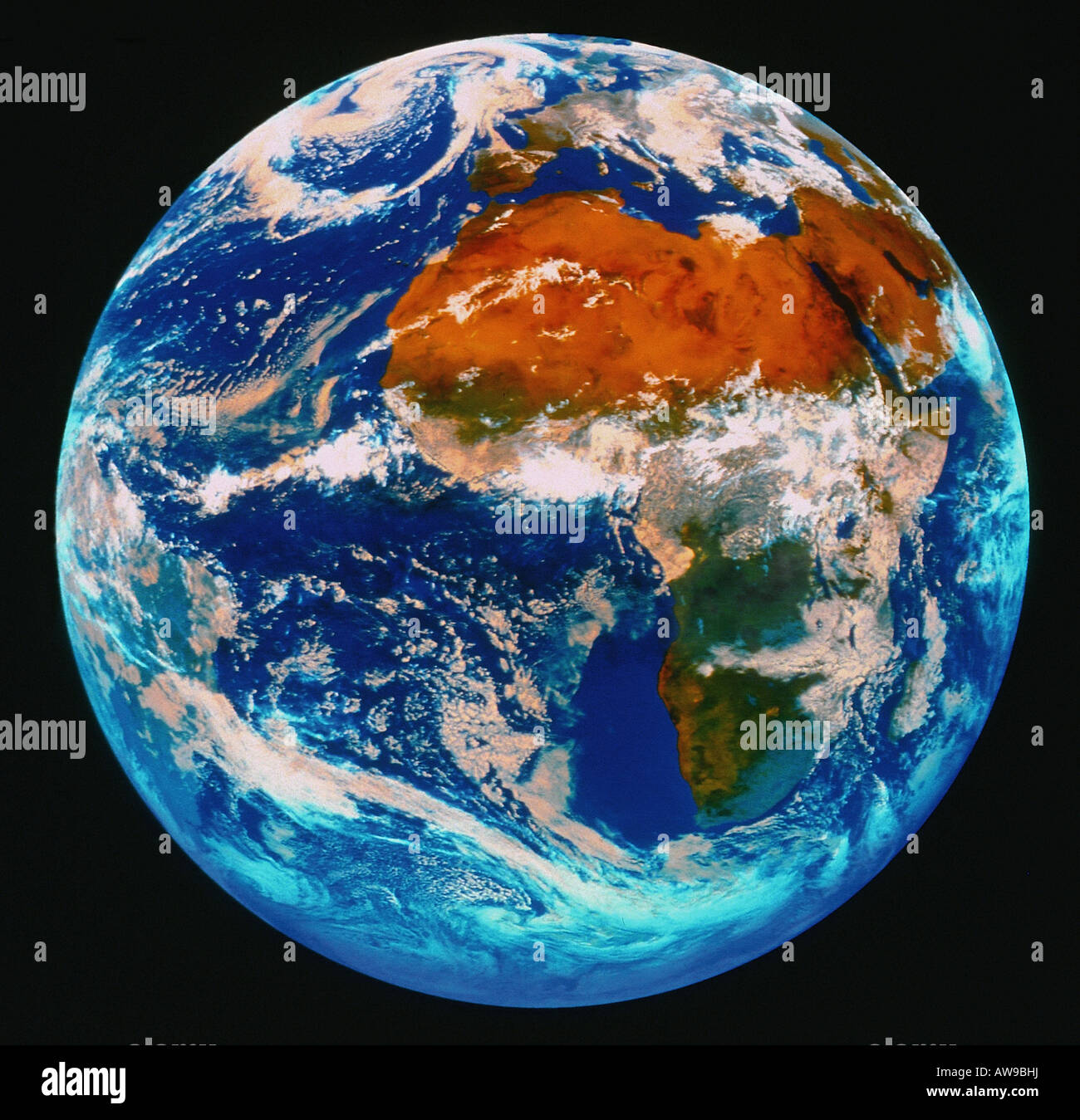 satellite photograph of the Earth from space - Stock Image