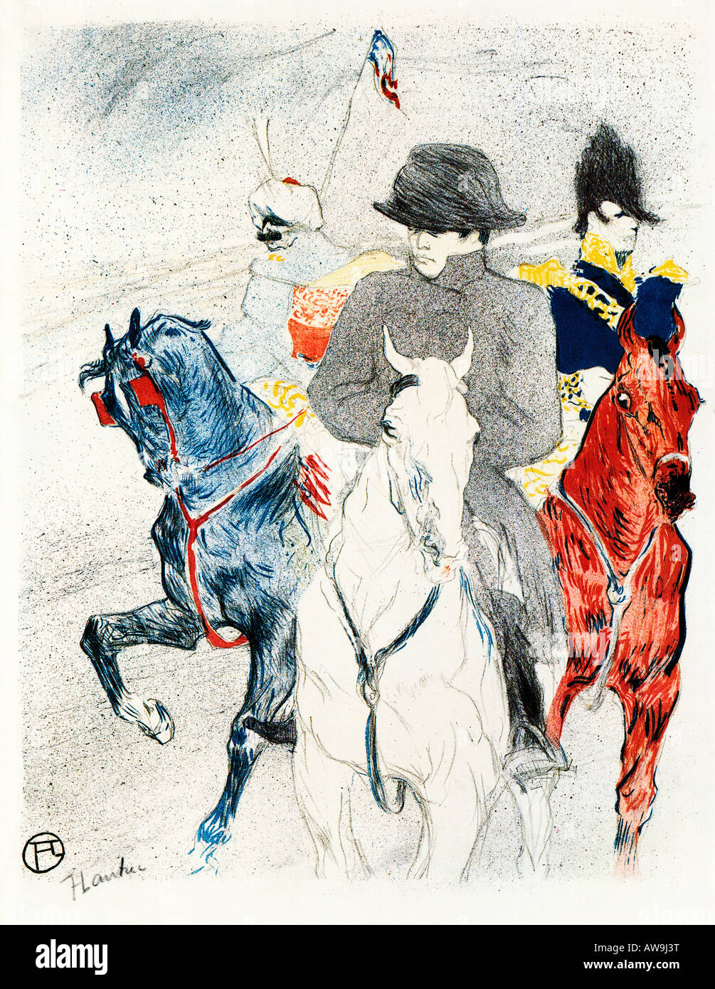 Napoleon 1895 Art Nouveau lithograph by Toulouse Lautrec an unused poster design he printed in an edition himself - Stock Image