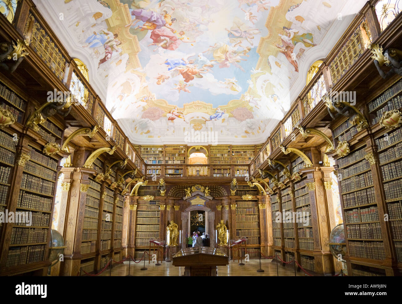 The Library Inside The Baroque Benedictine Monastery Of-5679