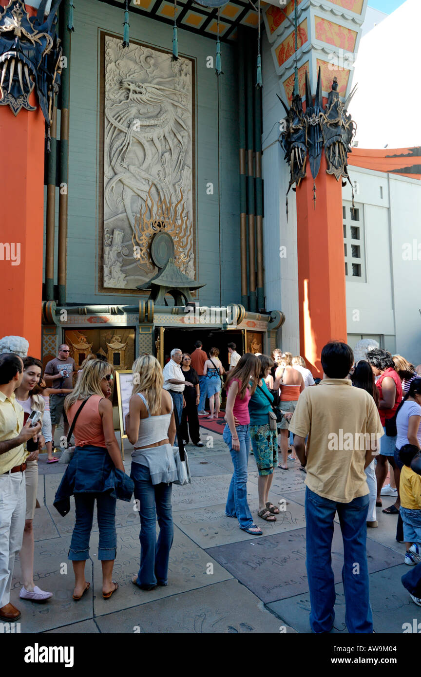The forecourt of Grauman's Chinese Theater in Hollywood, California. - Stock Image