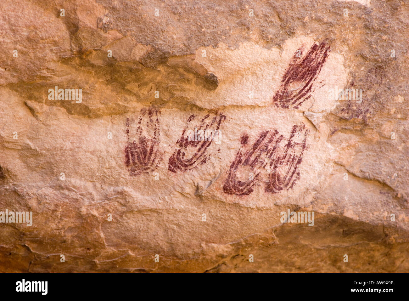 4000 year old hands - Stock Image