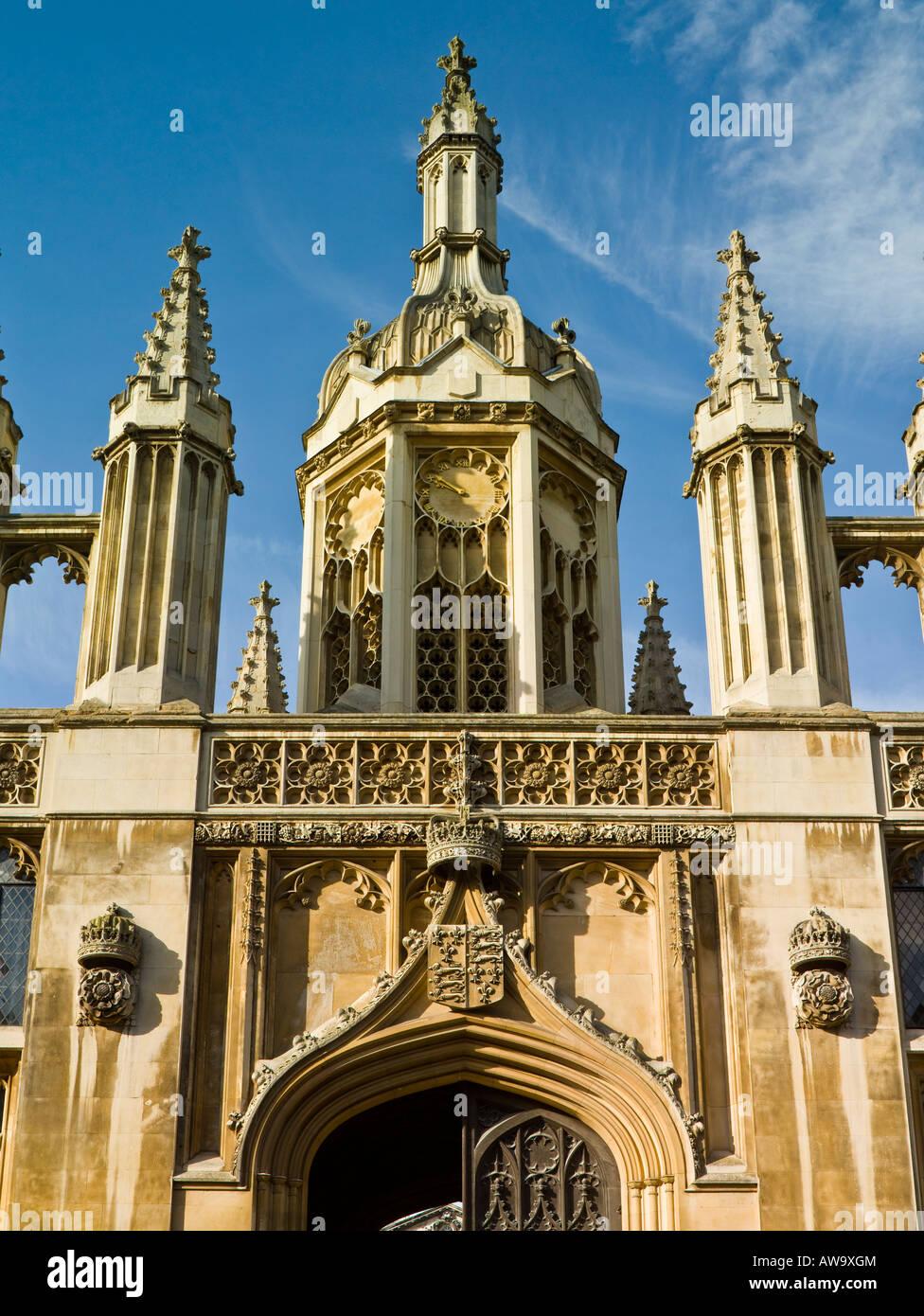 The Gatehouse, King's College, Cambridge - Stock Image